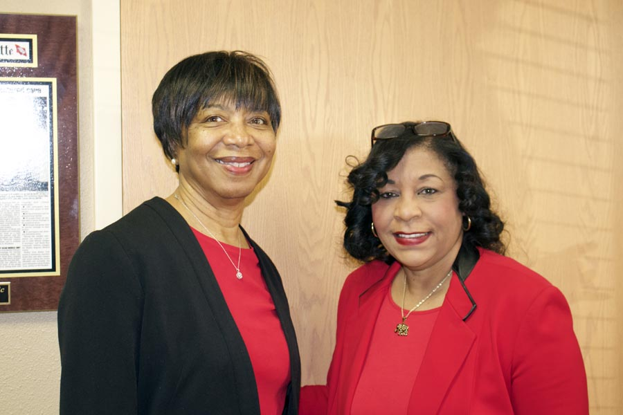 Norma Moss and Carolyn Moore