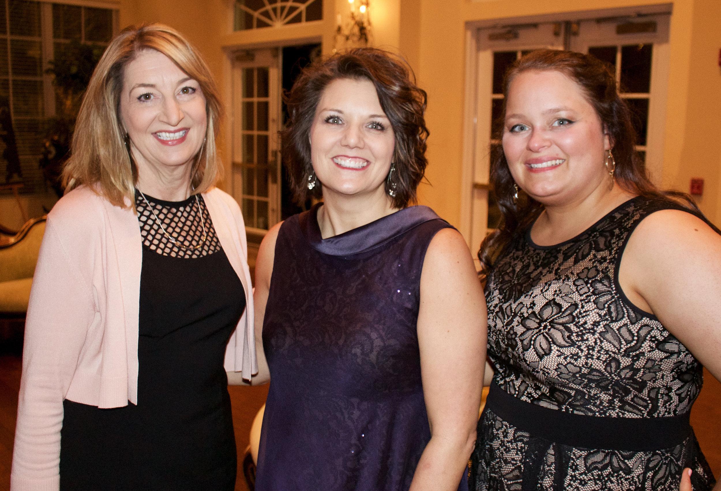 Kathi Robinson, Mia Kemp and Jessica Wright