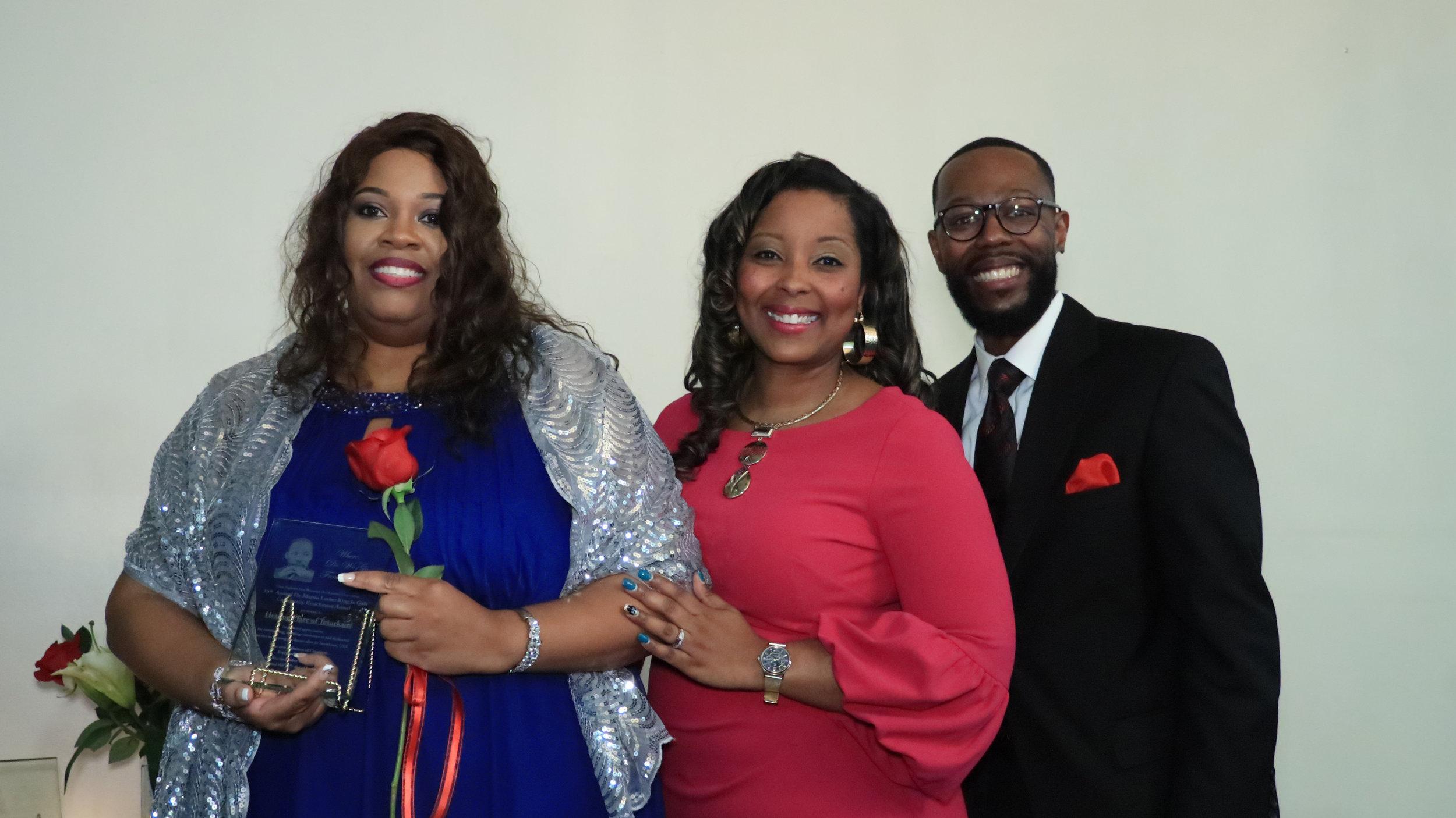 Virginia Howard, Tara Chambers-Givans and Dr. Brian Matthews