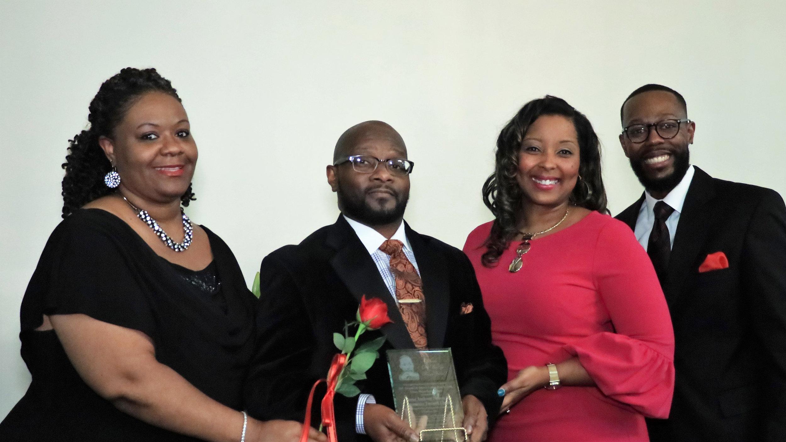 Sandra Warren, Pastor Anthony Nelson and Tara Chambers-Givans