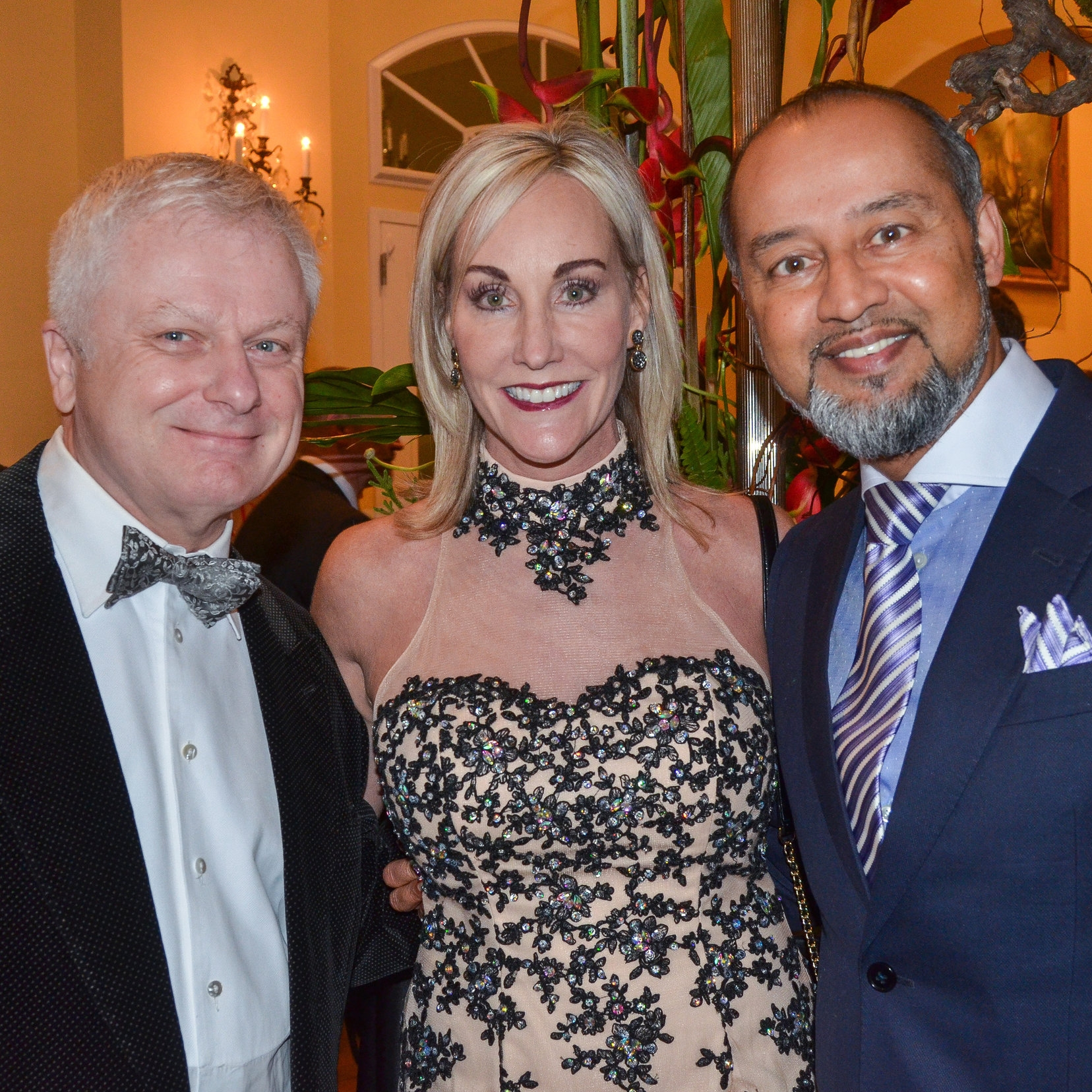 Jeff Brown with Julie and Dr. Suman Sinha