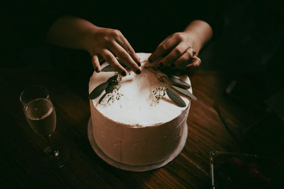 ^ Working in the food and cookbook industry has given Morgan balance while working on deep, social issue-based projects that sometimes require a lot of emotional vulnerability and stamina. Here, she works on a cake she made for a friend's wedding in September.