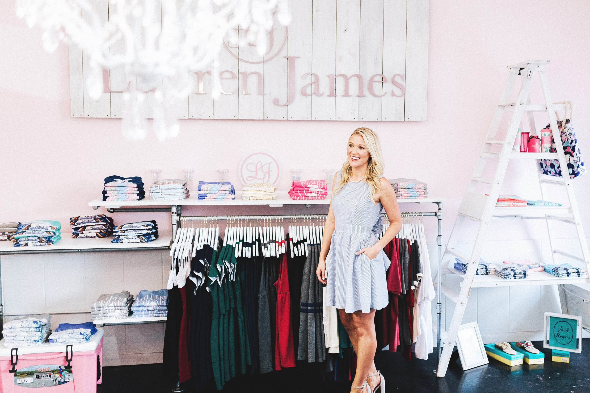 Lauren in the Lauren James store in Fayetteville, one of their three corporate stores. The other two are located in Southlake and Plano, Texas. (Photo by Kristen Herrington Photography)