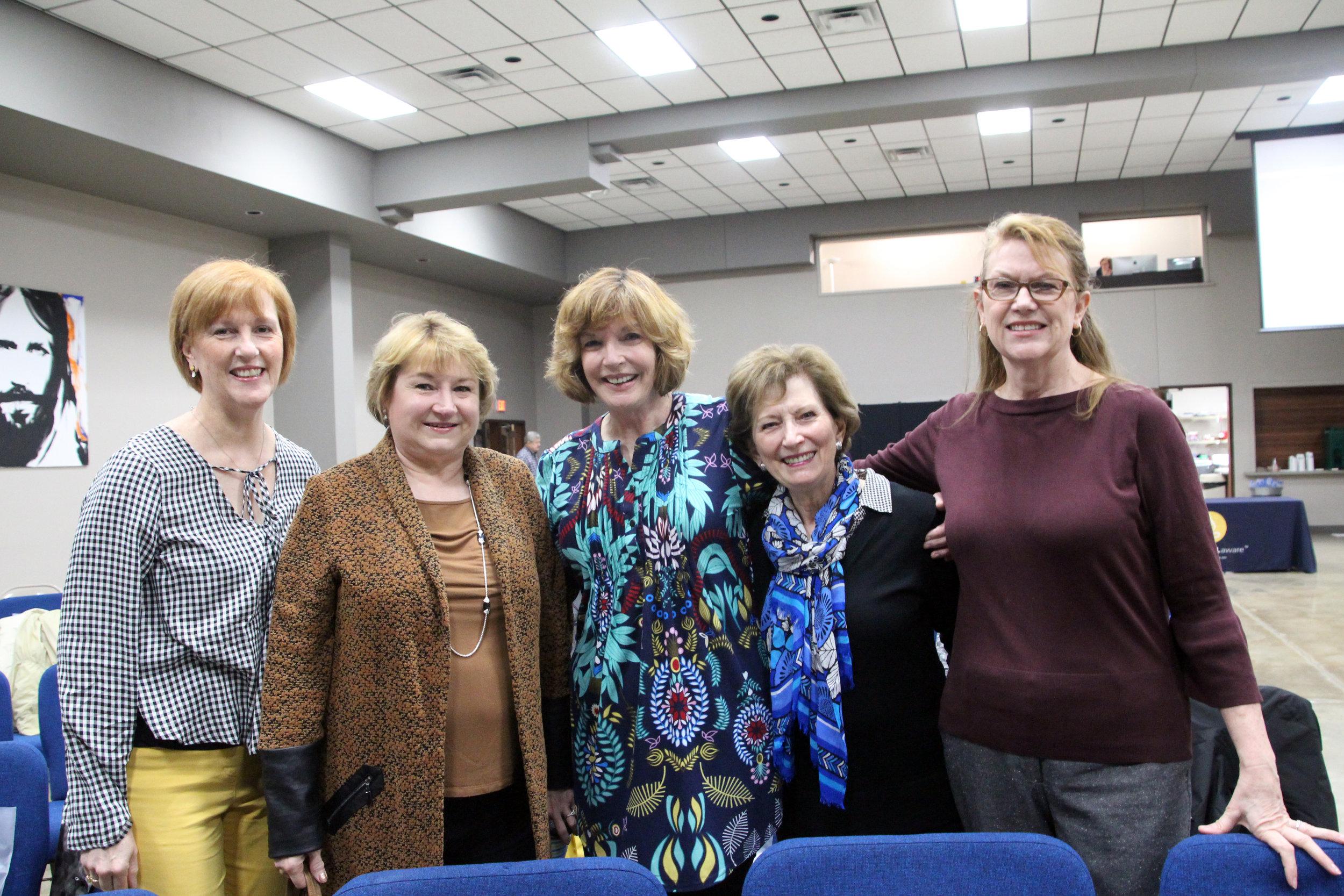 Cathy Long, Nancy Robbins, Scottie Burnett, Alice McMillan and Linda Hacker