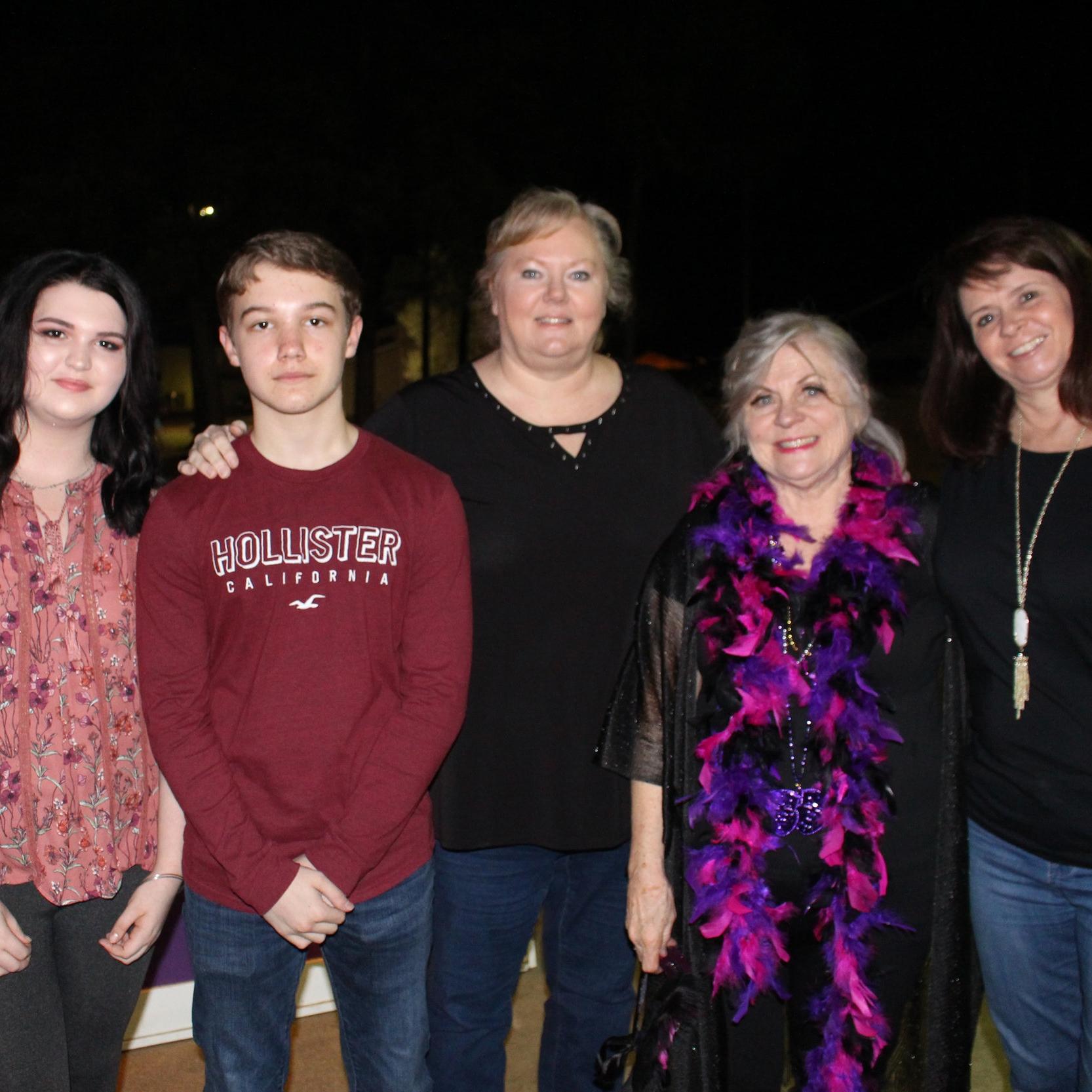 Amelia Jones, Colin Luckett, Melanie Wagstaff, Sue Smith and Jamie Patton