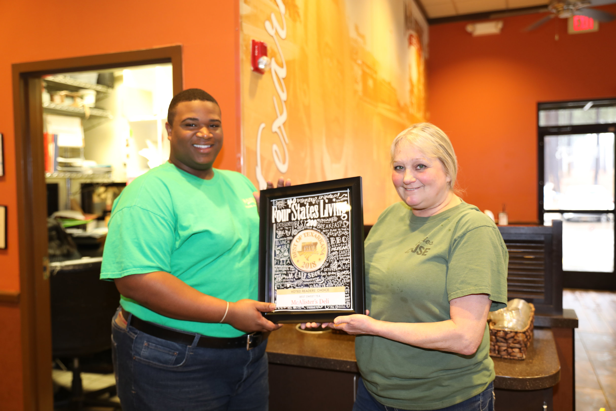 MCALISTER'S DELI – Qyuan Williams and Connie Marsh