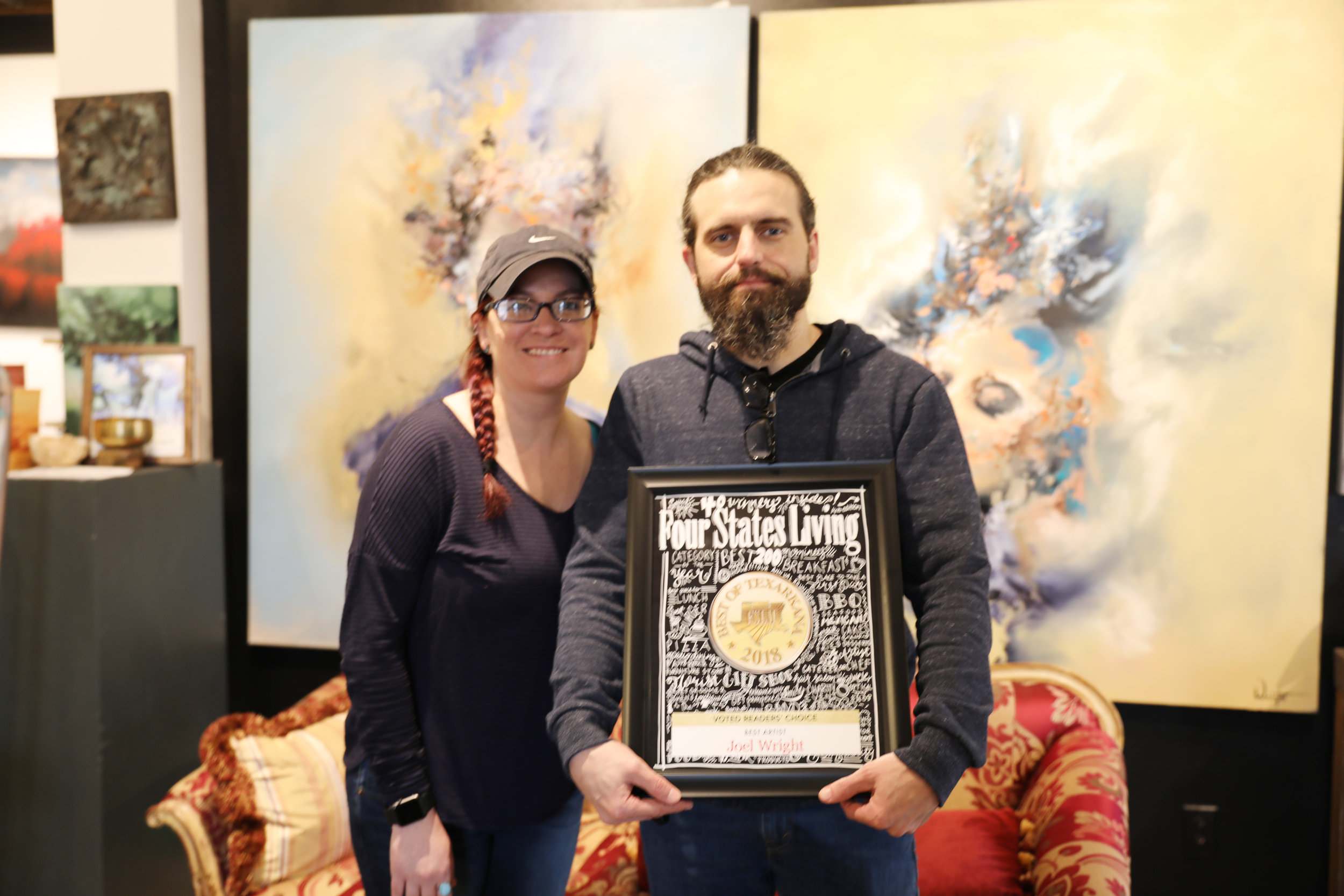 BEST ARTIST – Joel Wright with his wife, Sarah