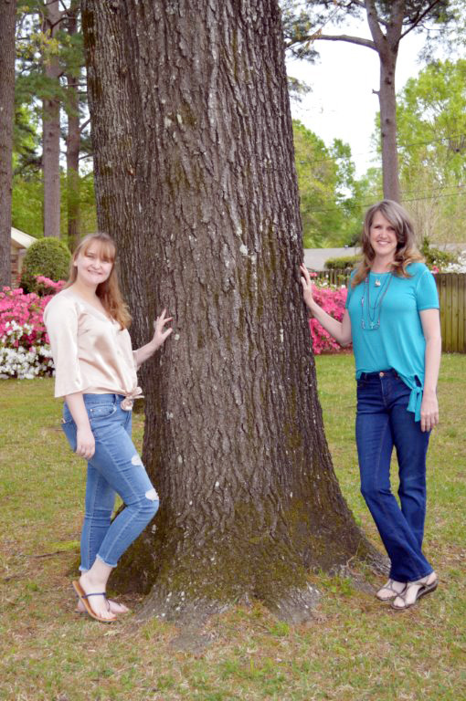 Amy (right) readily admits that her two greatest blessings are her daughters, Audrey and Ellie (right photo).