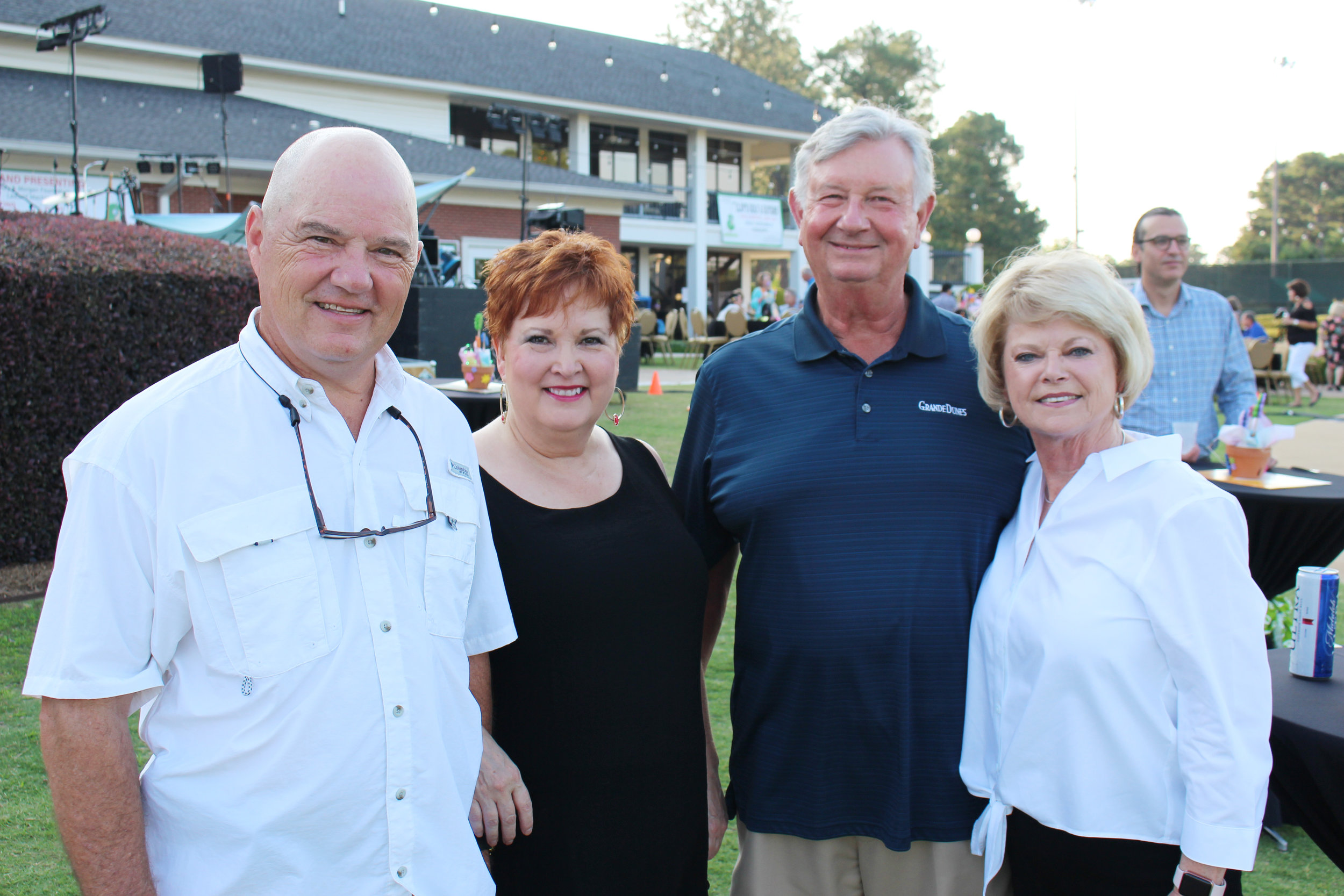 Allen and Darla Clement with Tom and Debra Moore