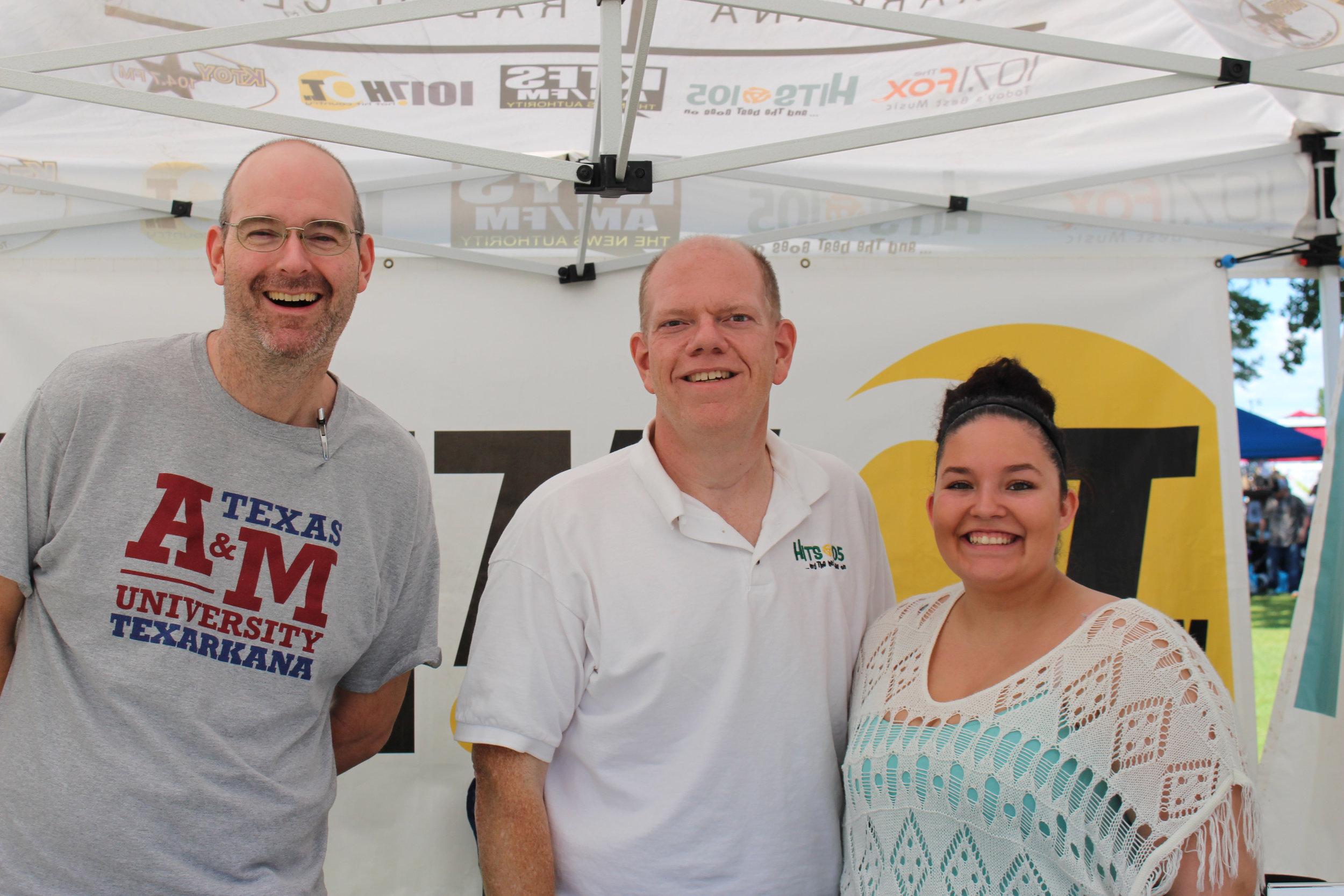 Stephen Parker, Jeff Newsom and Natasha Hart