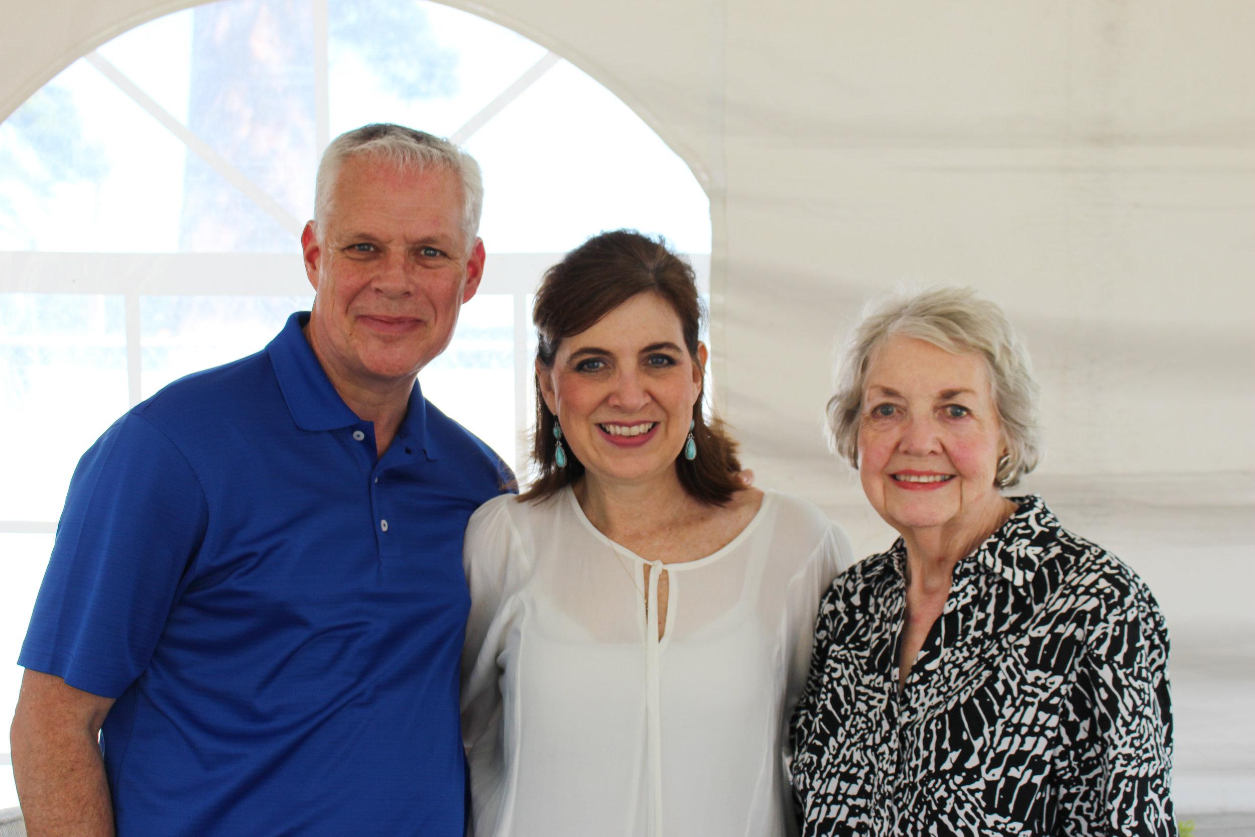Robert and Suzy Irwin with Barbara Carl