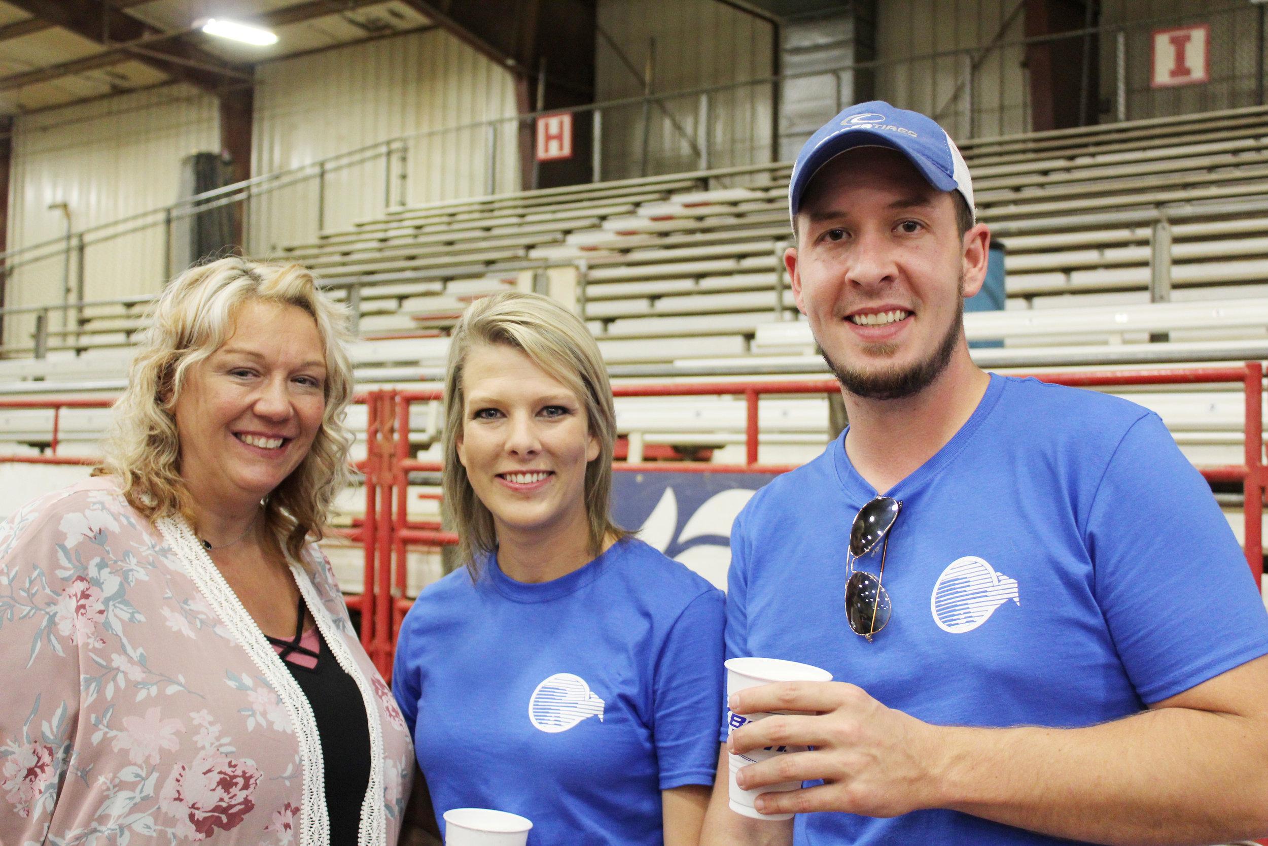 Lynn Foster, Erin Huckabee and Mike Crowder