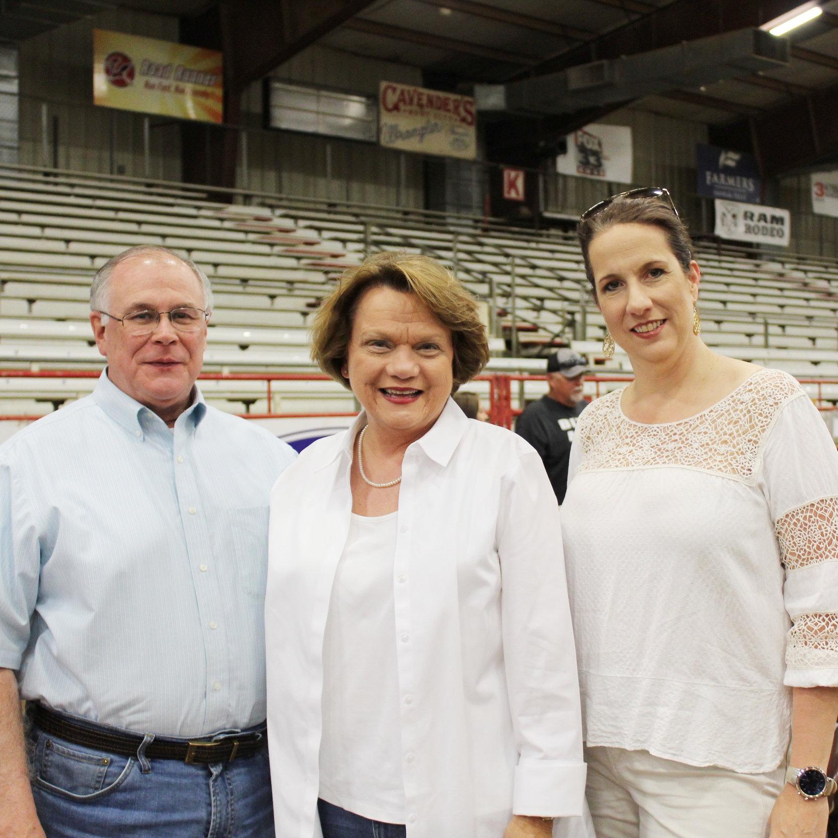 John and Rep. Carol Dalby with Lisa Shoalmire