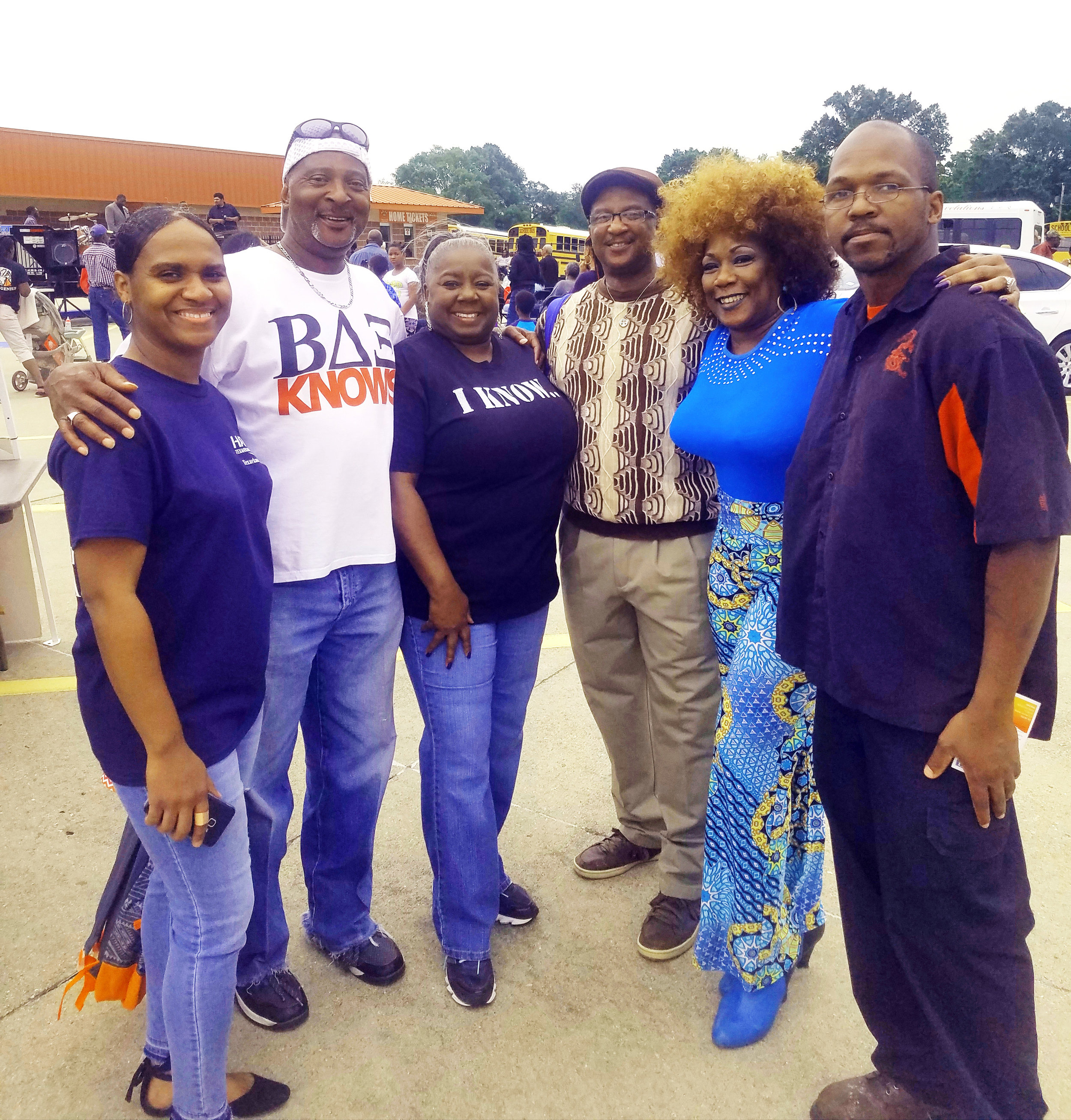 Tarisha Duson, James Craver, Jackie Callahan, Glen Craver, Bess Gamble Williams and Simmie Gamble