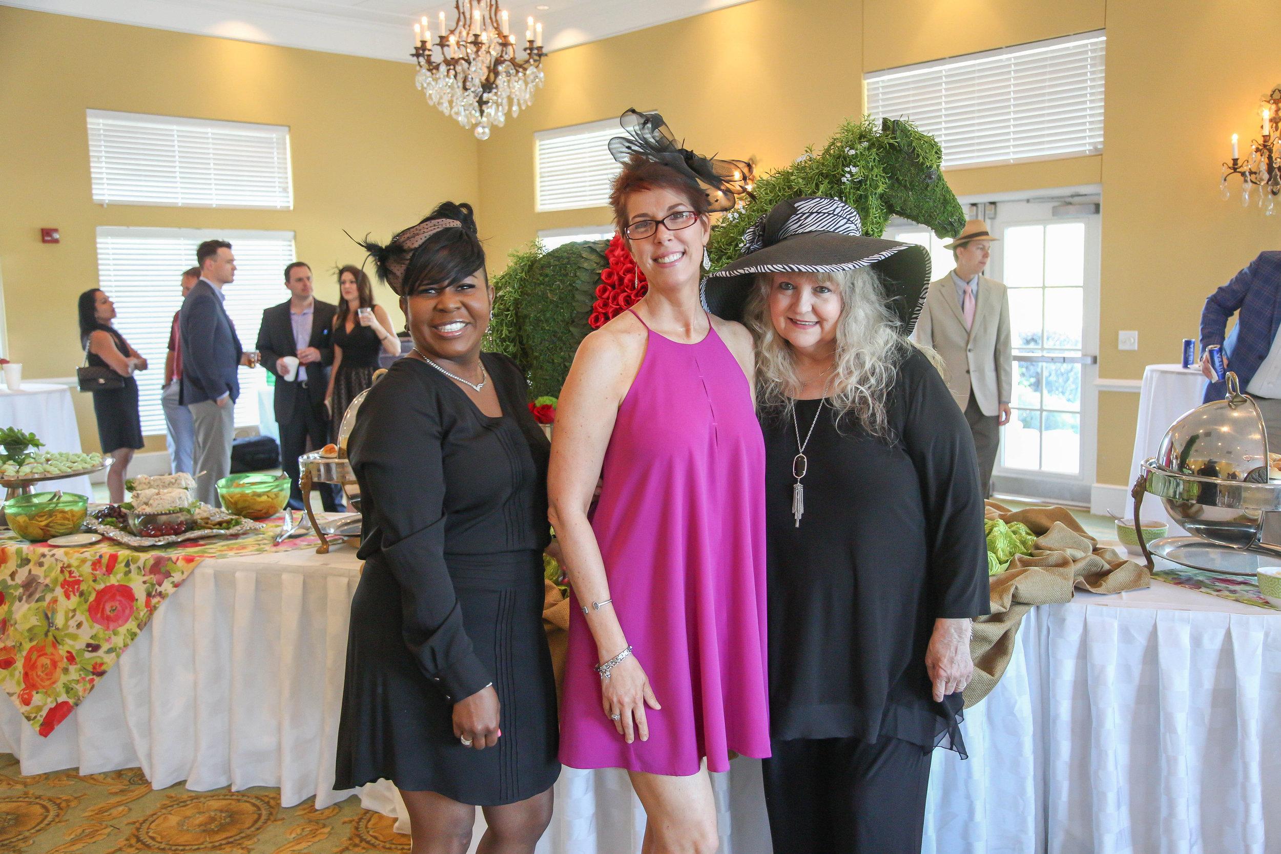 Lekia Jones, Melissa Estes and Jeannie Van Hoose