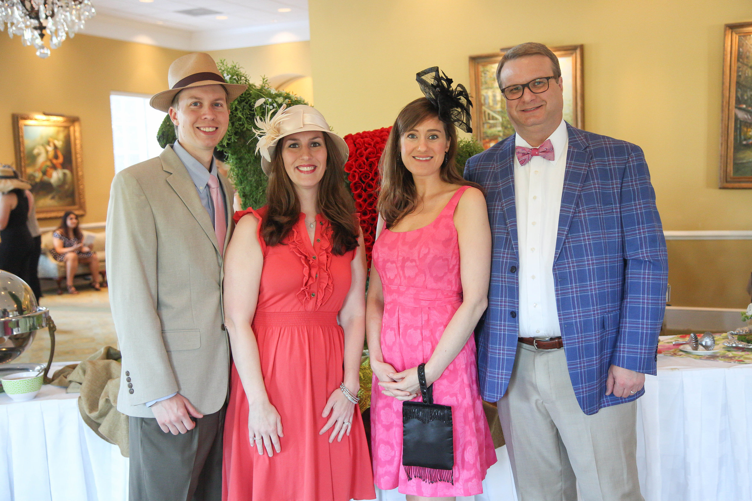 Robert and Katrina McGinnis with Angela and Andrew Clark