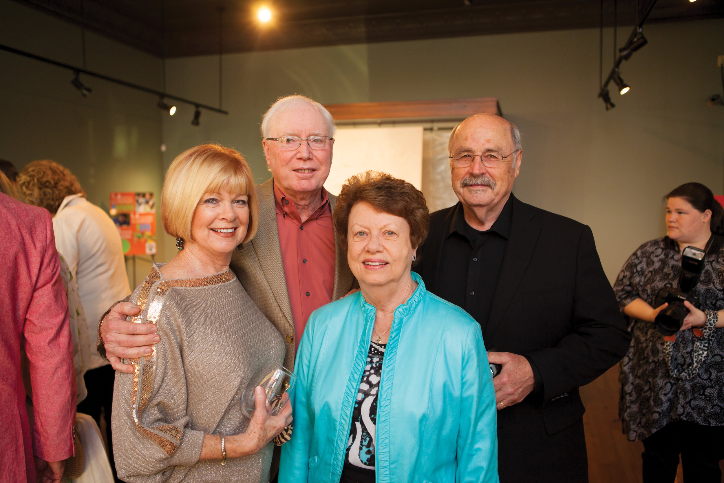 Jane Richards and Ronald Stewart with Bridget and Philip White