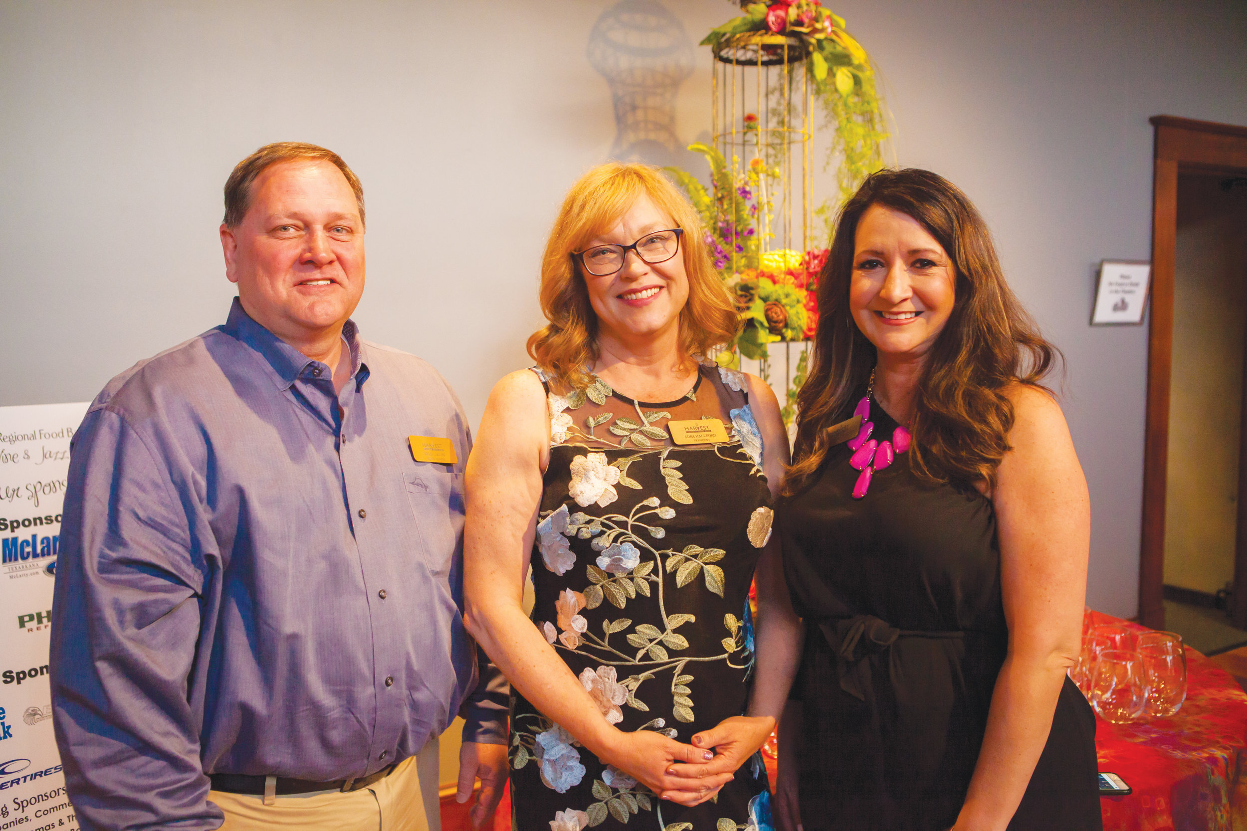 Brad Carlow, Adra Hallford and Camille Wrinkle
