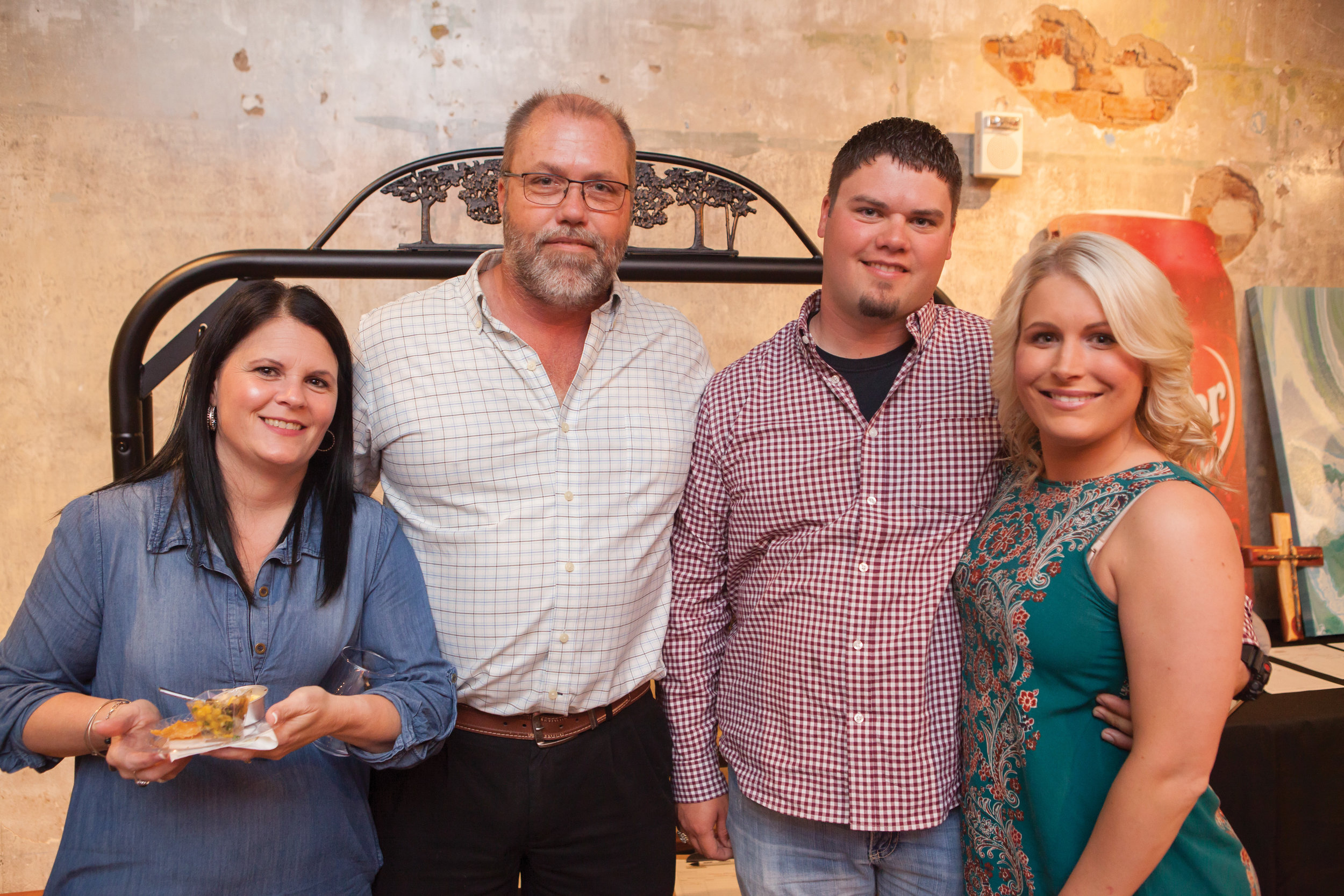 Tonya and Darrin Satterfield with Ryan and Brittany Satterfield
