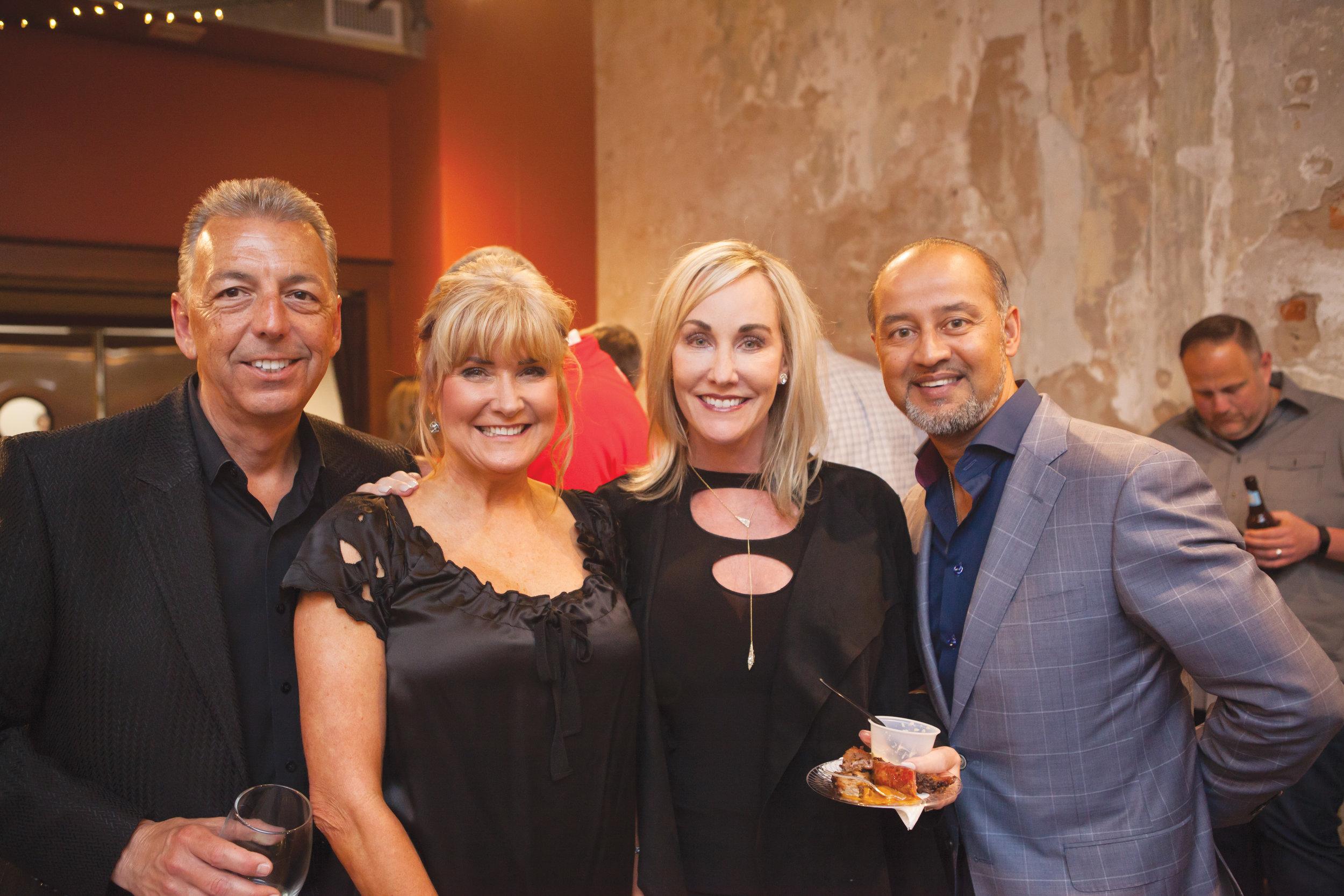 Richard Savins and Myra Loving with Julie and Dr. Suman Sinha