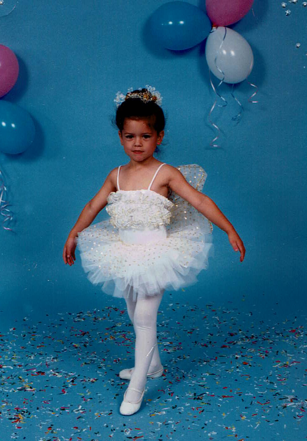 ^ During her first dance recital at age 3, Ali portrayed a snow fairy.