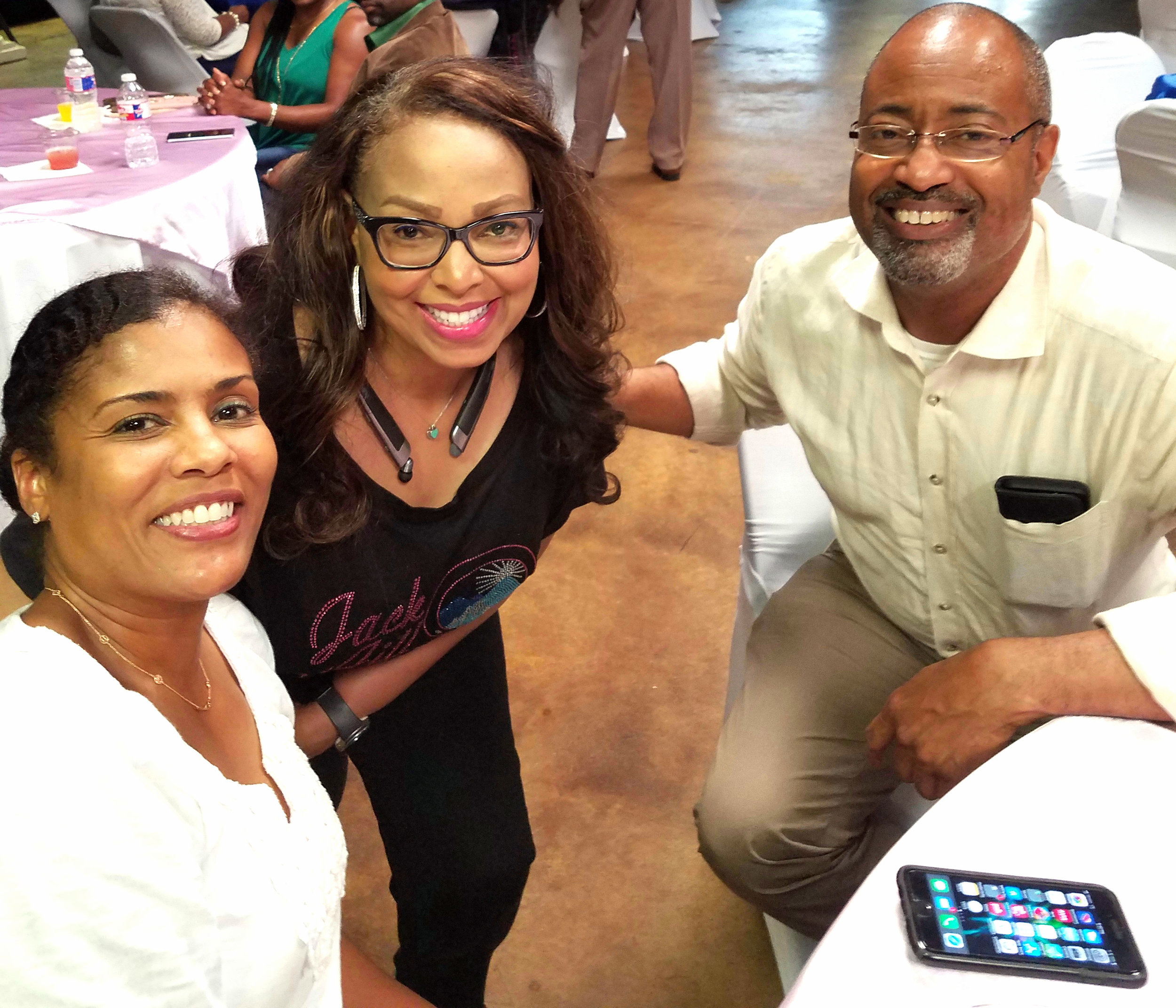Dr. Pam Perry, Kim Bursey-Reece and Dr. Charles Fortenberry
