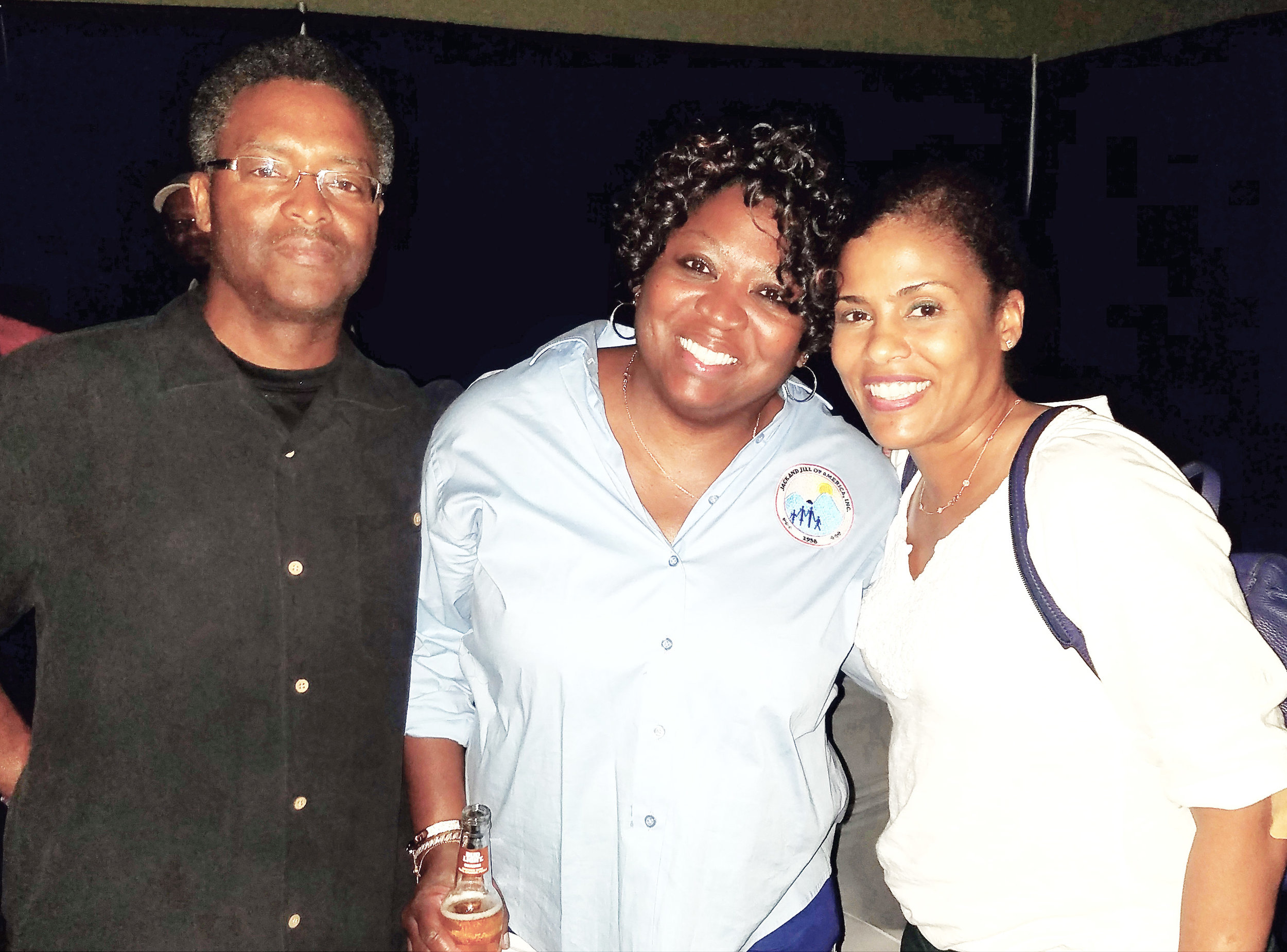 Phillip and Dr. Jacqueline O'Donald with Dr. Pam Perry