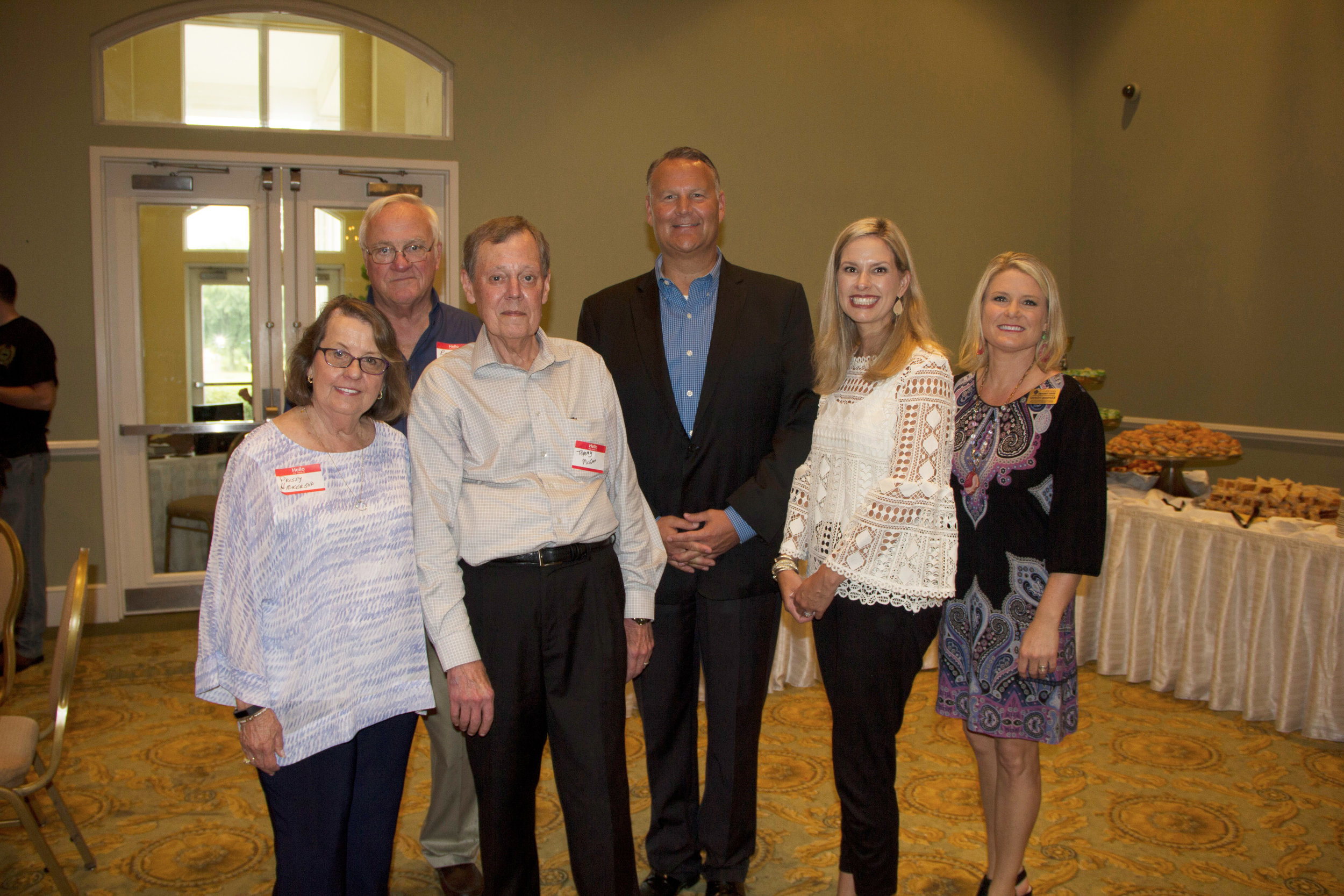 Prissy and Dr. Randy Hickerson, Tommy McGee, Dr. Matt Young, Brooke Marshall and Mendy Warner