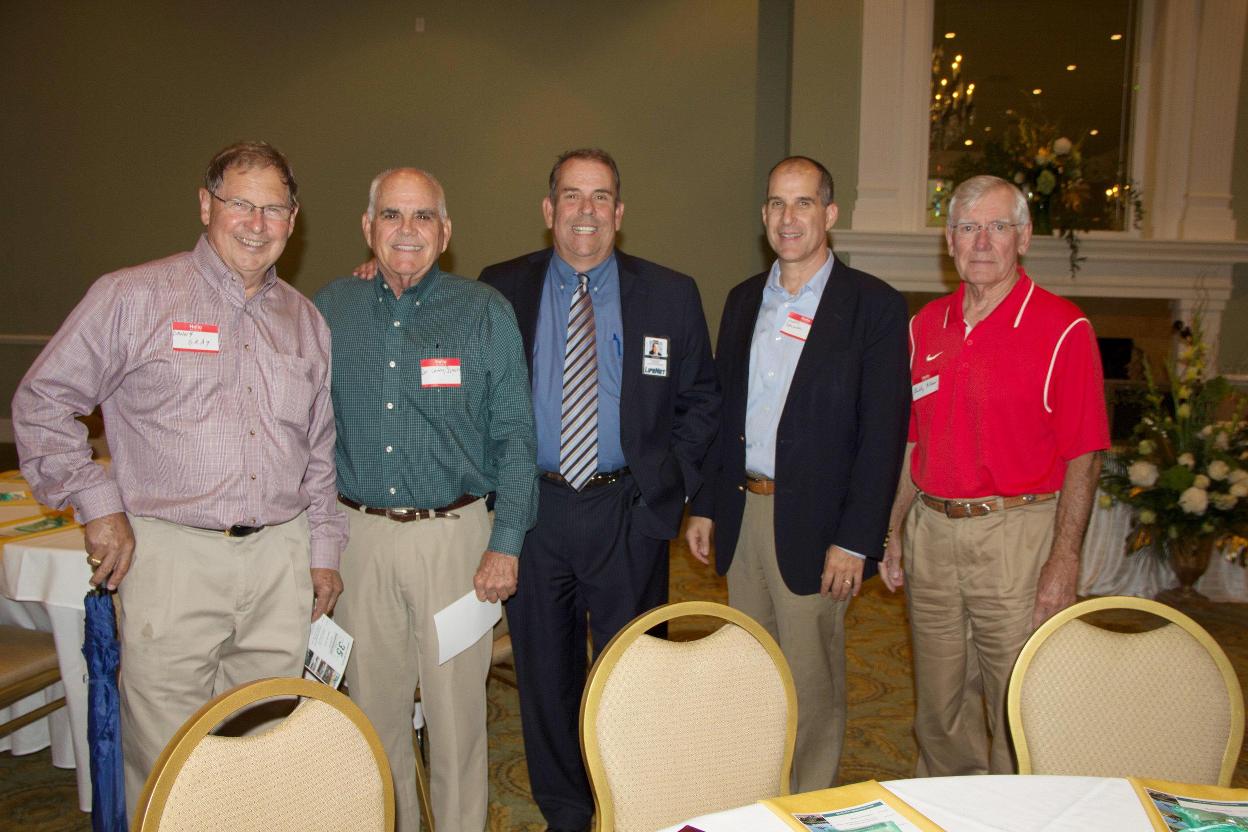 Danny Gray, Dr. Larry Davis, David Baumgardner, Marty Delaney and Buddy Allen
