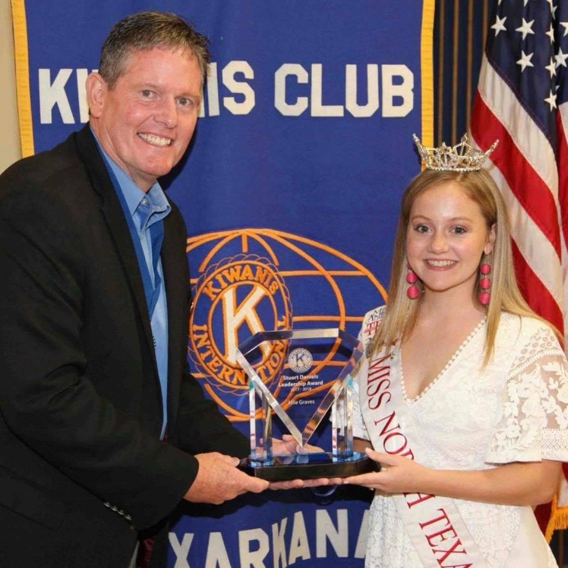 Kiwanis President-Elect Mark Bledsoe and Allie Graves