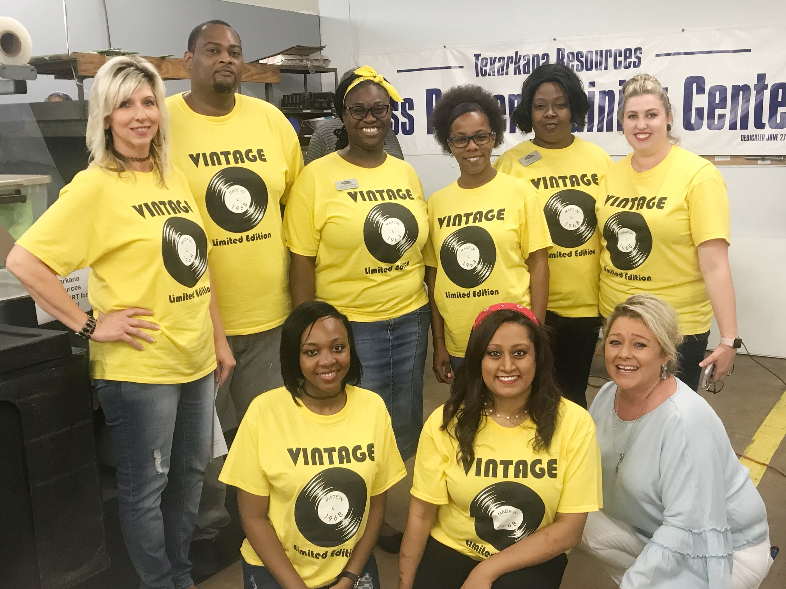 (front row) Brooke Rooters, Jayna Hazelwood and Shannon West; (back row) Erica Chapman, Charles Cooper, Cassandra Freeman, Ann Hobbs, Marcia Austin and Jennifer Lewis