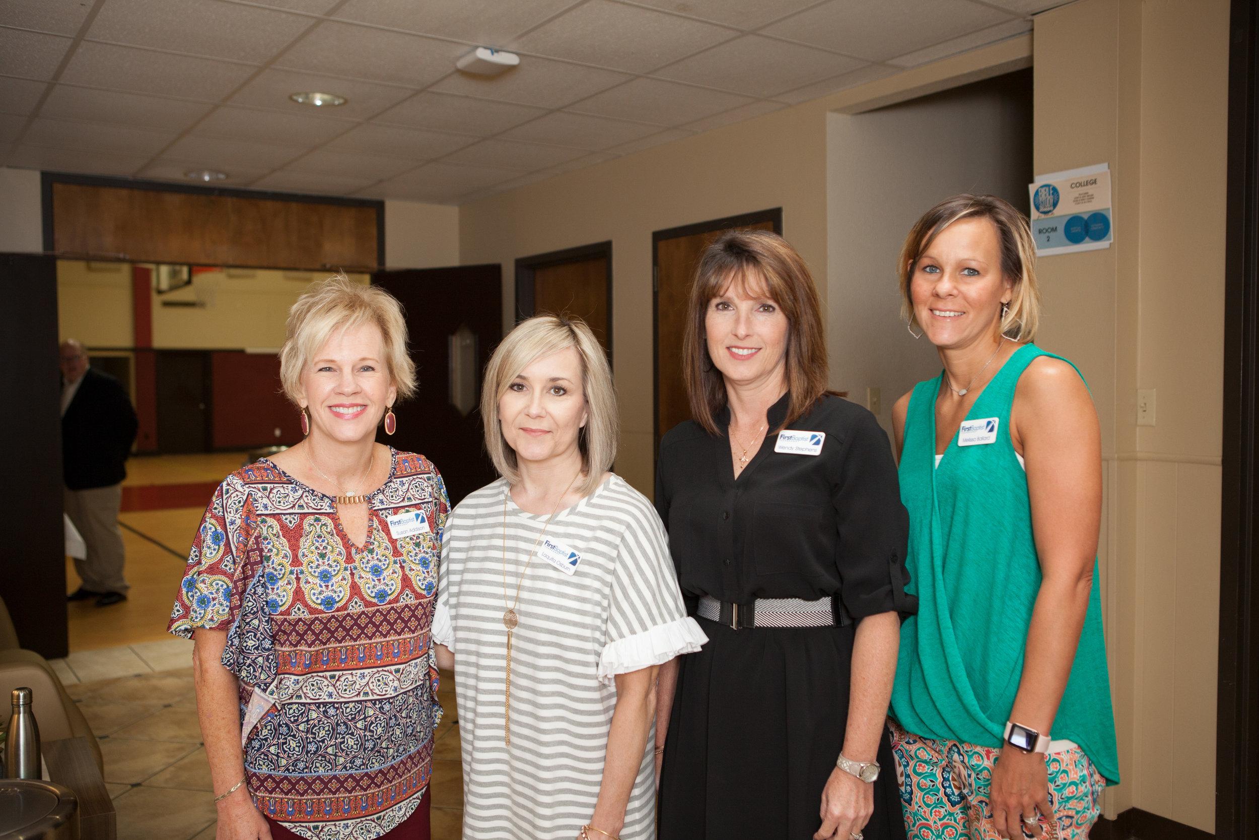 Susan Addison, Laquita Osburn, Wendy Stephens and Melissa Ballard