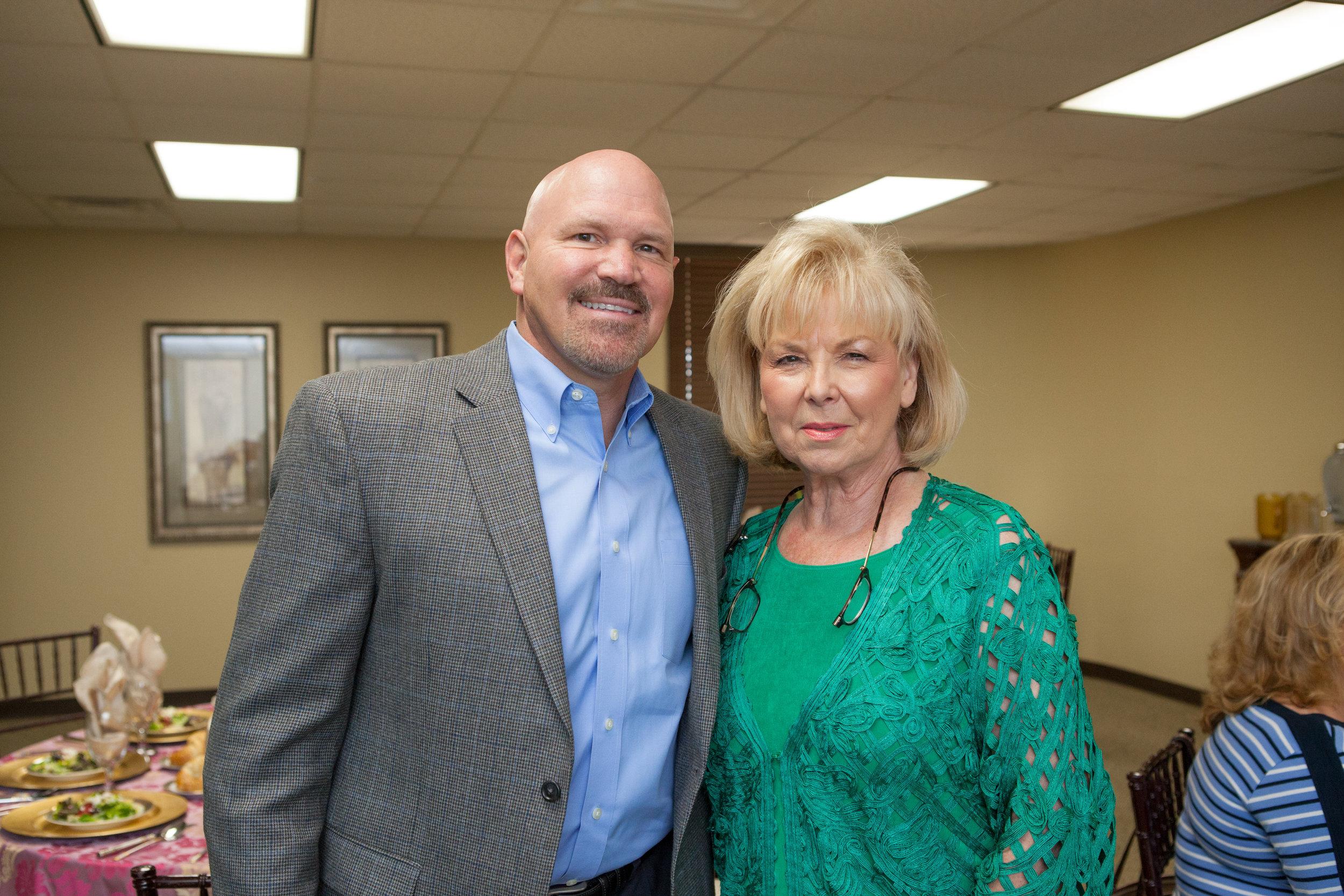 Pastor Jeff Schreve and Pat Nance