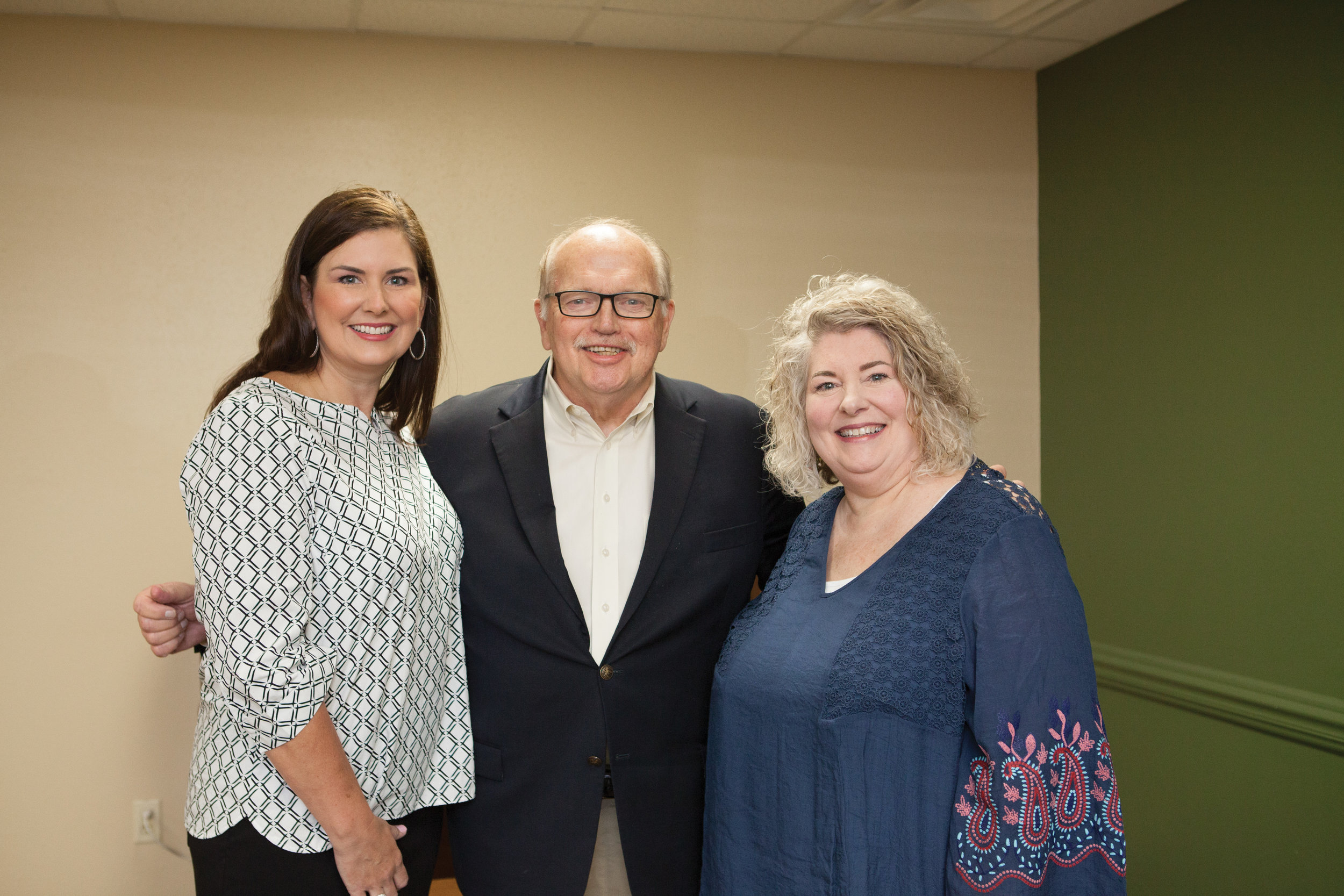 Dr. Robin Rogers, Larry Sims and Suzy Turner
