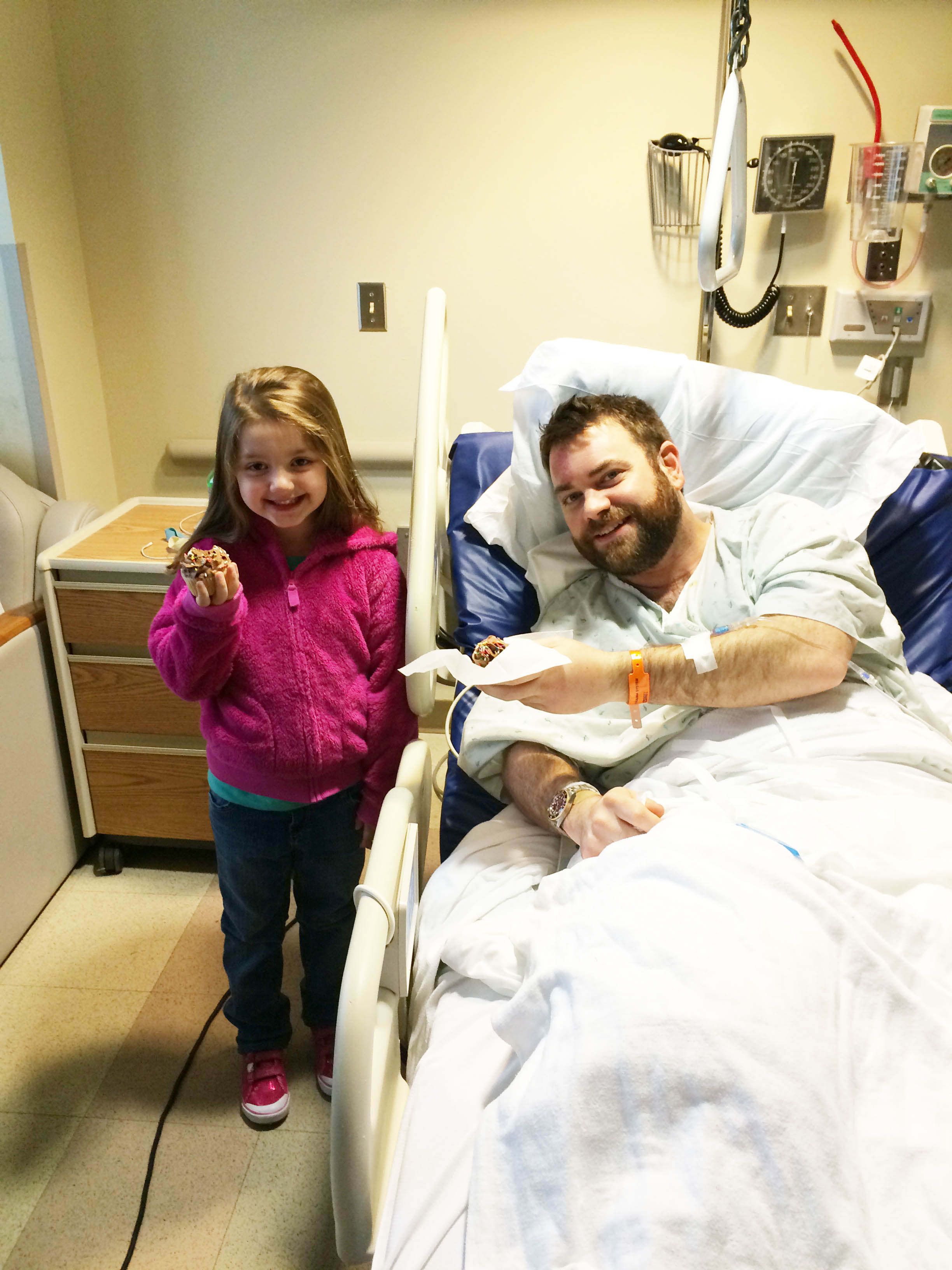 The day after his accident, April 5, 2015, Todd and his niece Ava celebrated her fifth birthday being together and eating cupcakes.