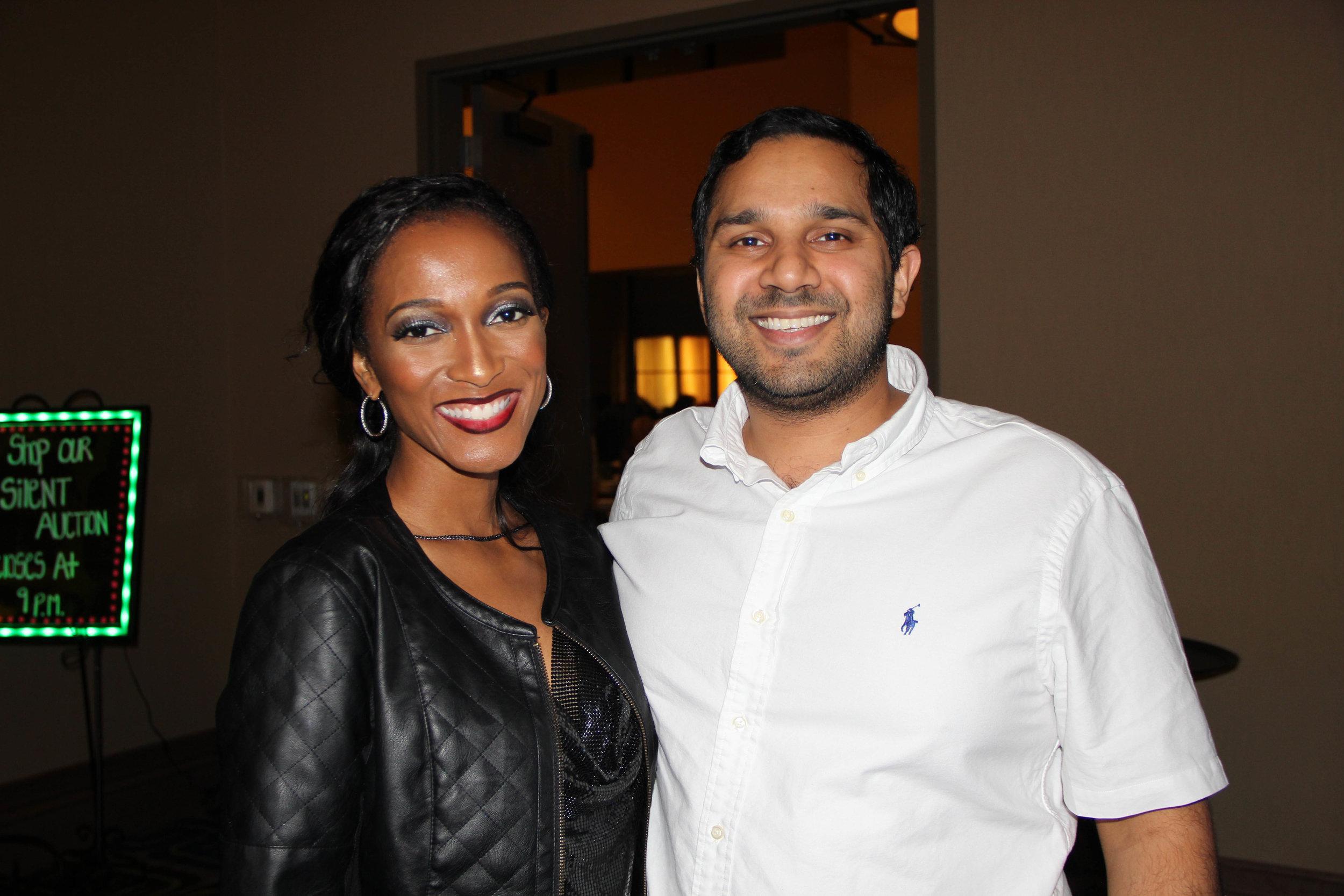 Shambrekia Wise and Dr. Omar Ishaq