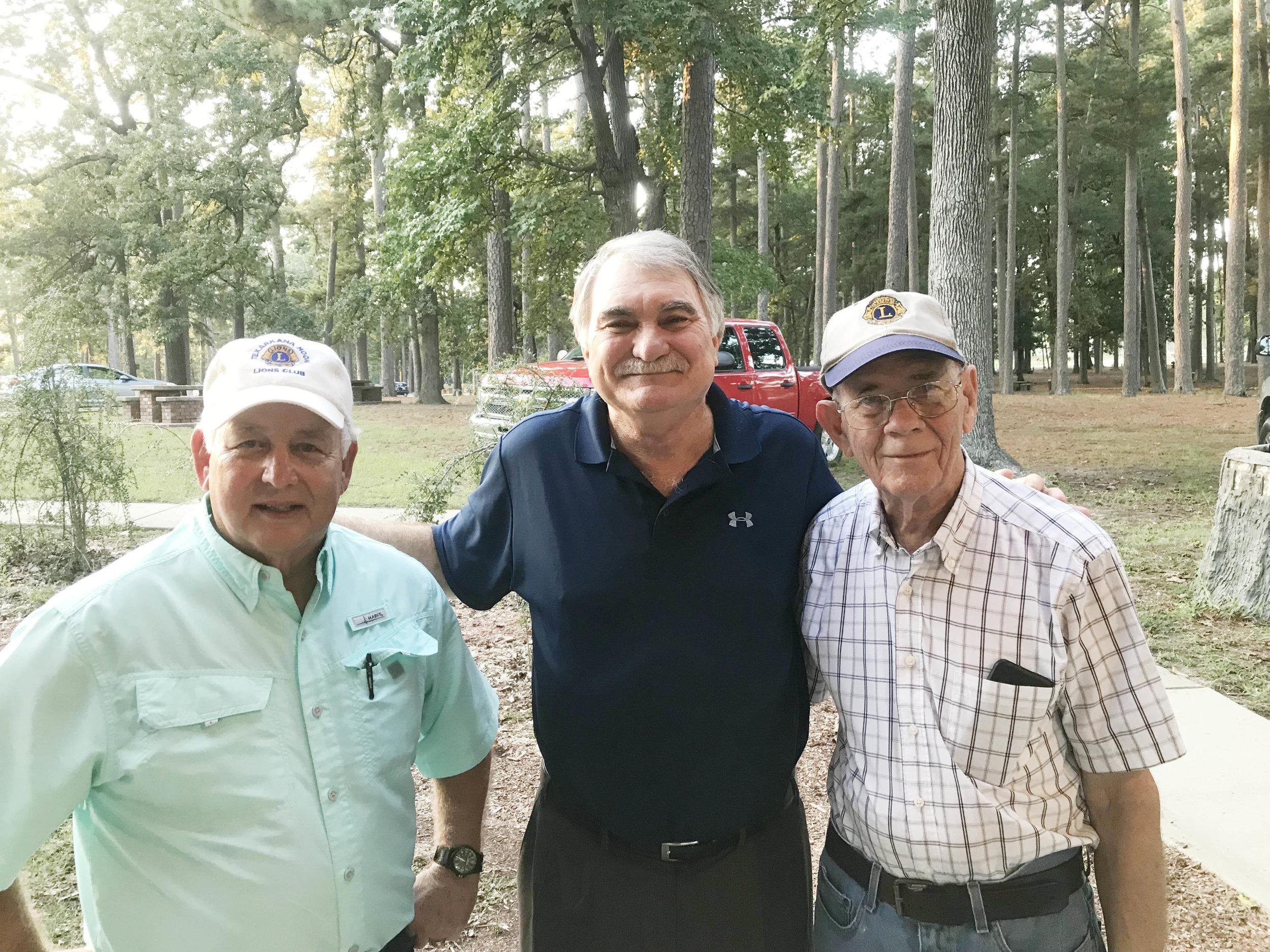 John Norton, George Carpenter and Ed Foster