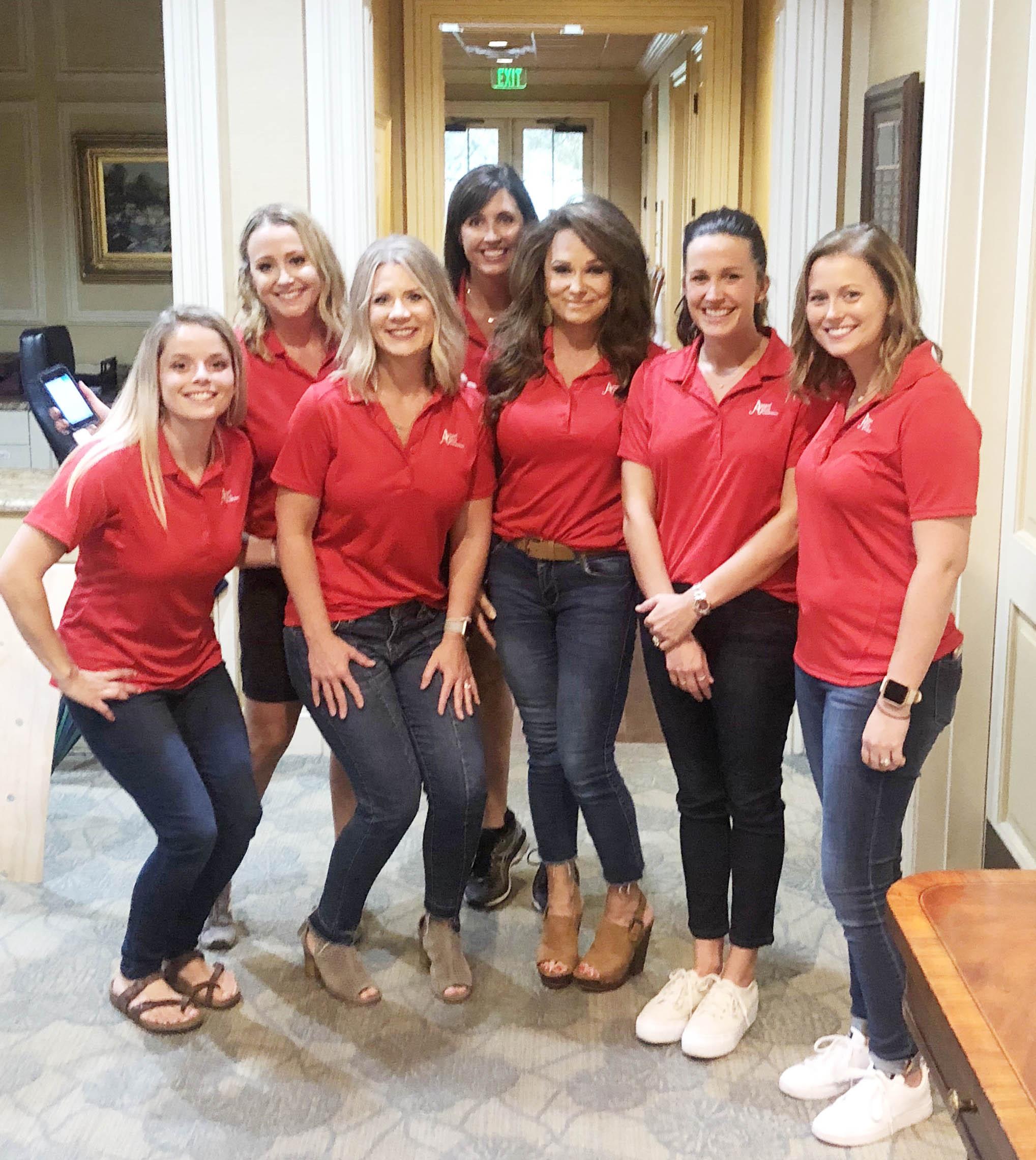 Samantha Mitchell, Kim Glass, Linde Huddleston, Lori Hambleton, Janet Cox, Kelsey Patterson and Rebecca Cantrell