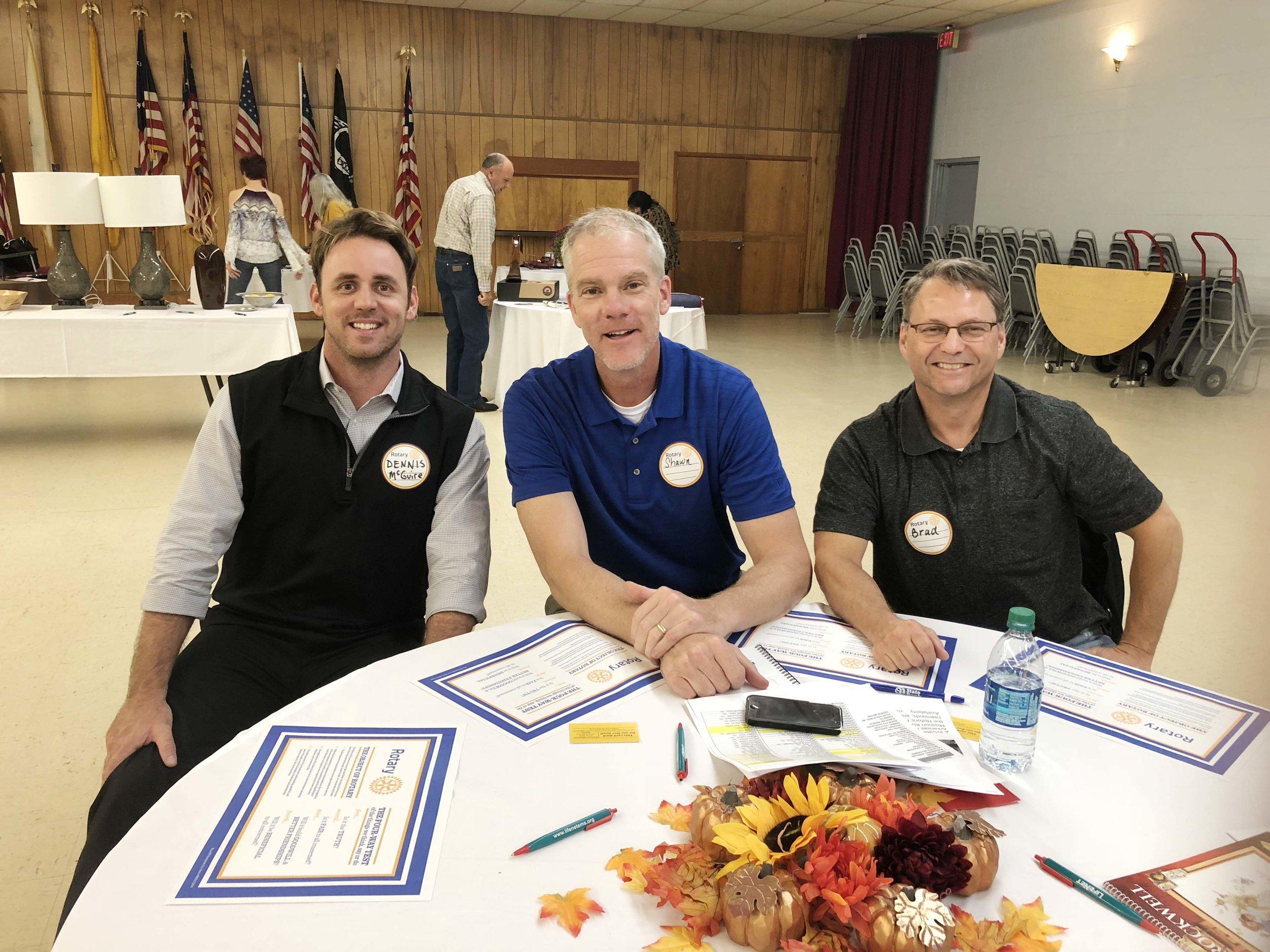Dennis McGuire, Shawn Davis and Brad Bailey