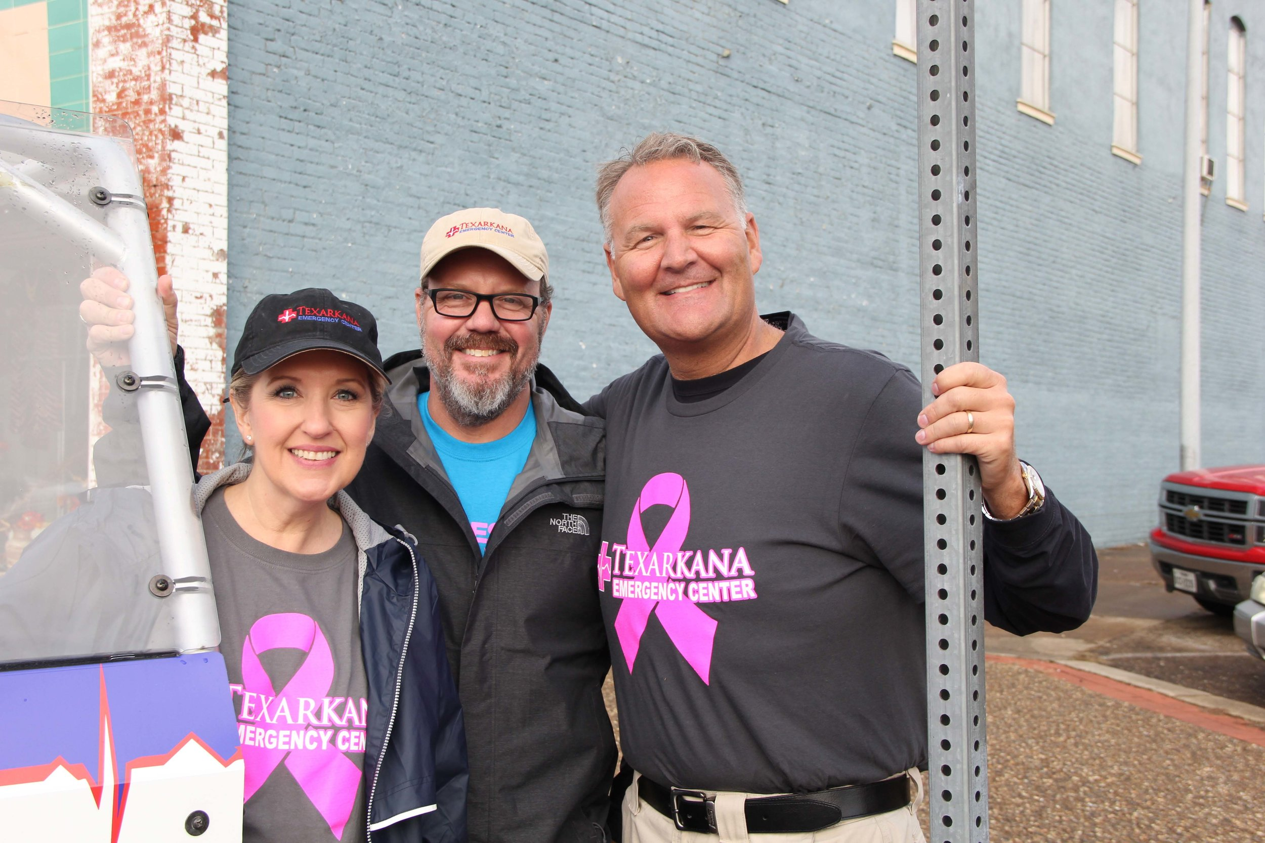 Leigh Ann Scates, Dr. Eric Jacobsen and Dr. Matt