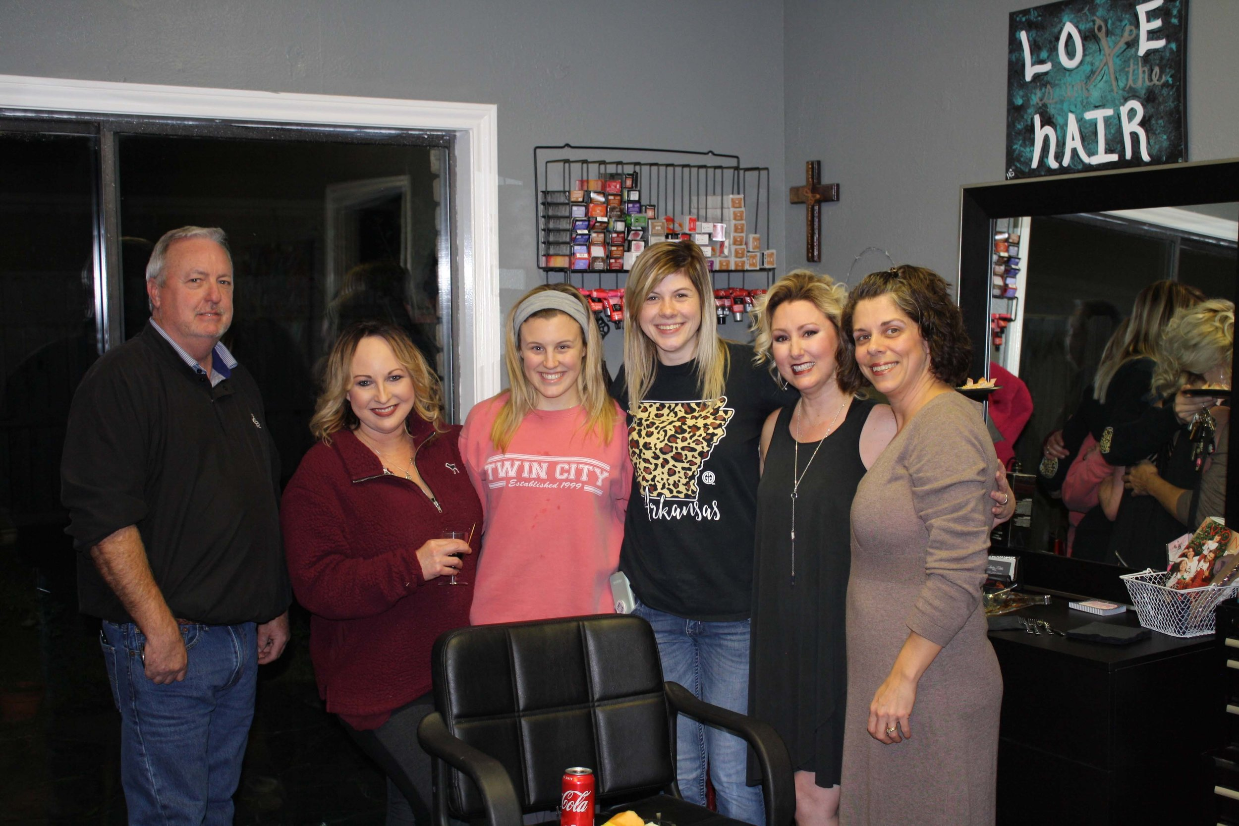 Randy Pounds, Rachel Purifoy, Anna Blair Lawrence, Harley McCaffe, Patty Lynn and Toni Brown