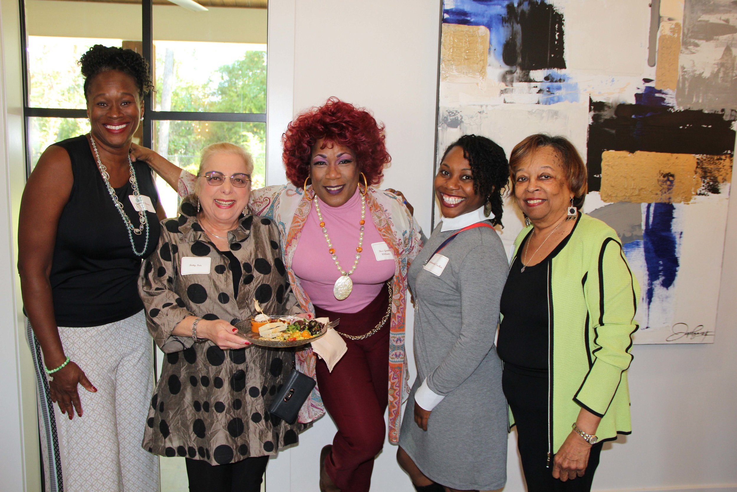 Charissa Barnes, Dr. Betty Feir, Bess Gamble Williams, Meshandale Tucker and Peggy Ross