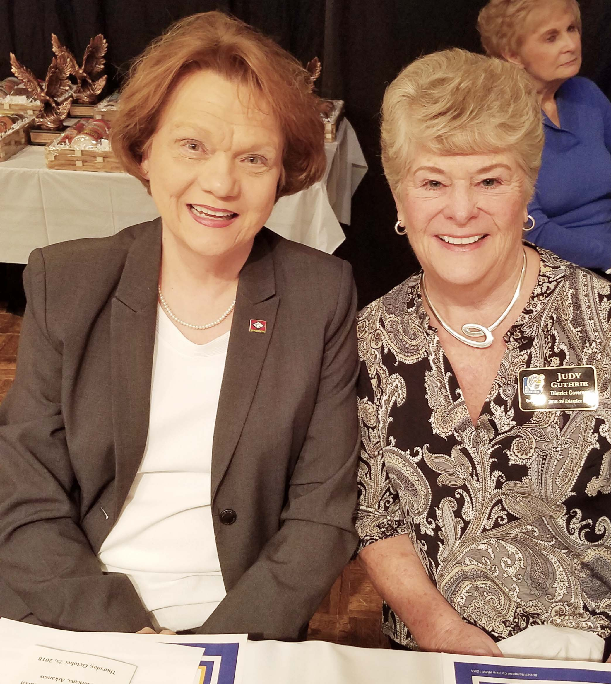 Rep. Carol Dalby and Judy Guthrie