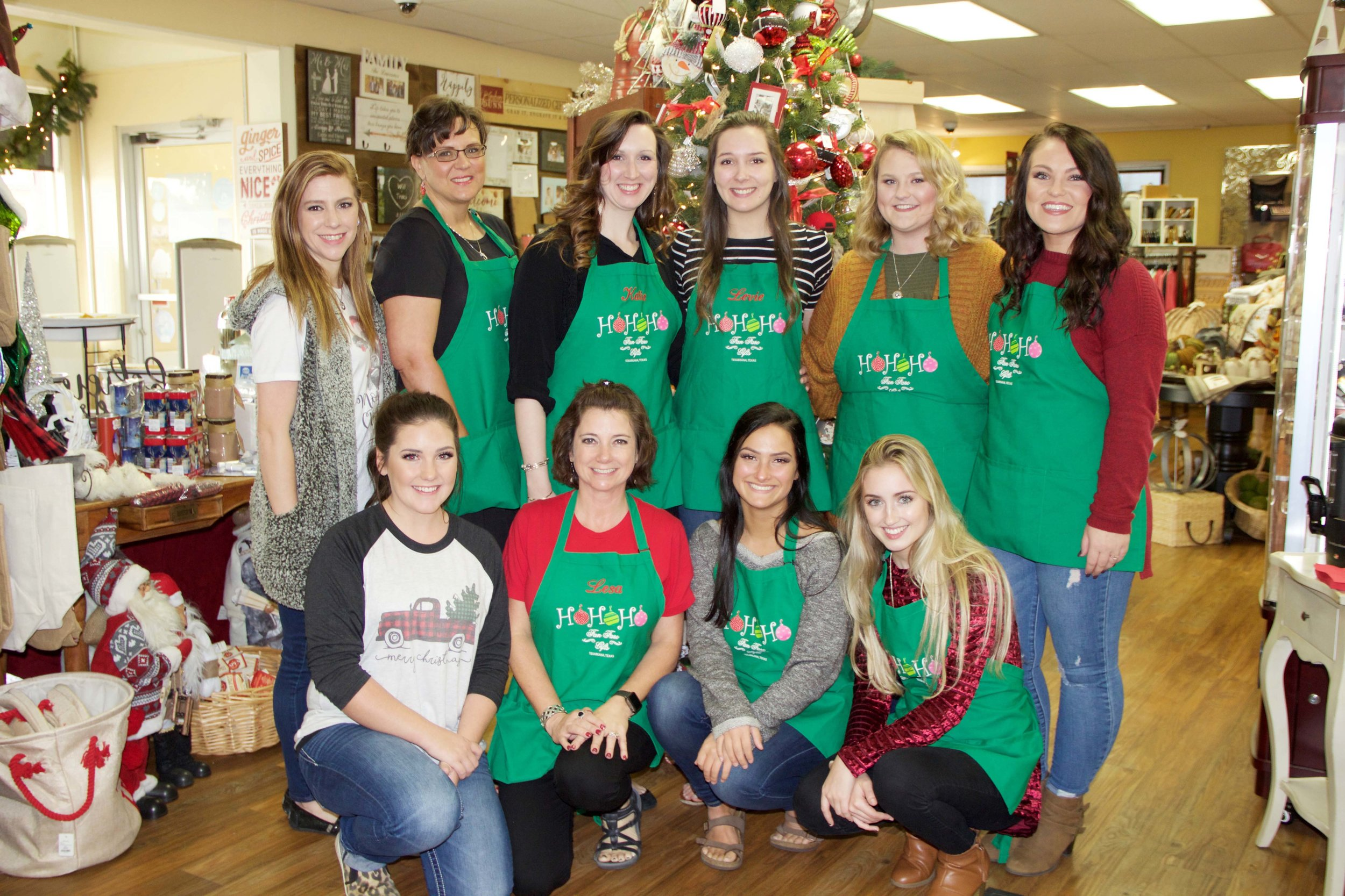 (front row, left to right) Courtney Stewart, Lesa Asbille, Kasidy Bunger and Hannah Rankin; (standing) Kara Holden, Angela Purifoy, Katie Shepherd, Levie Gates, Alex Kimbrough and Tori Morton