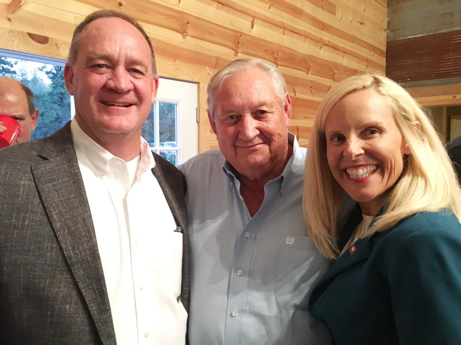 Sen. Jimmy Hickey, Larry Cowling and Rep. Deann Vaught