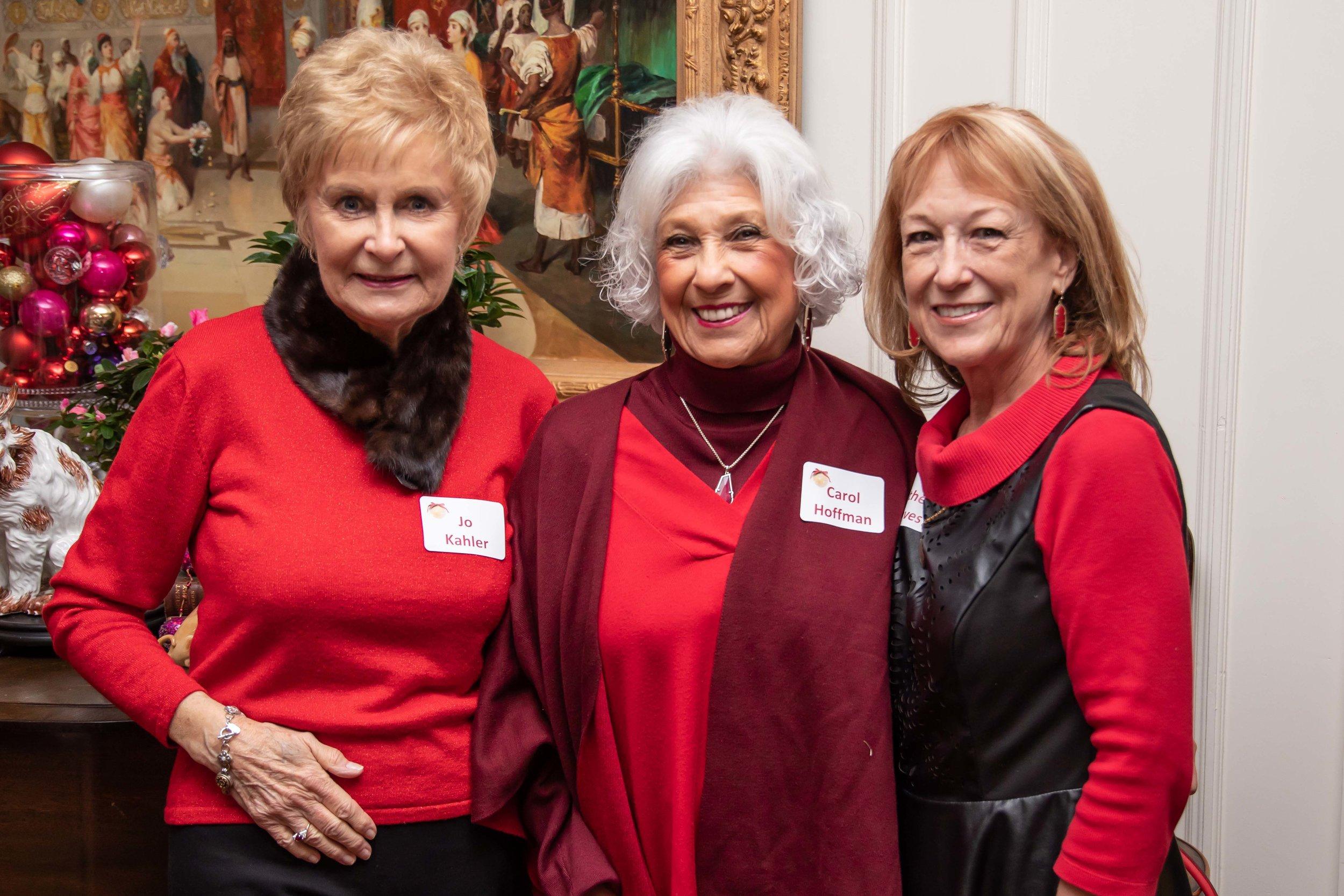 Jo Kahler, Carol Hoffman and Kathey Graves