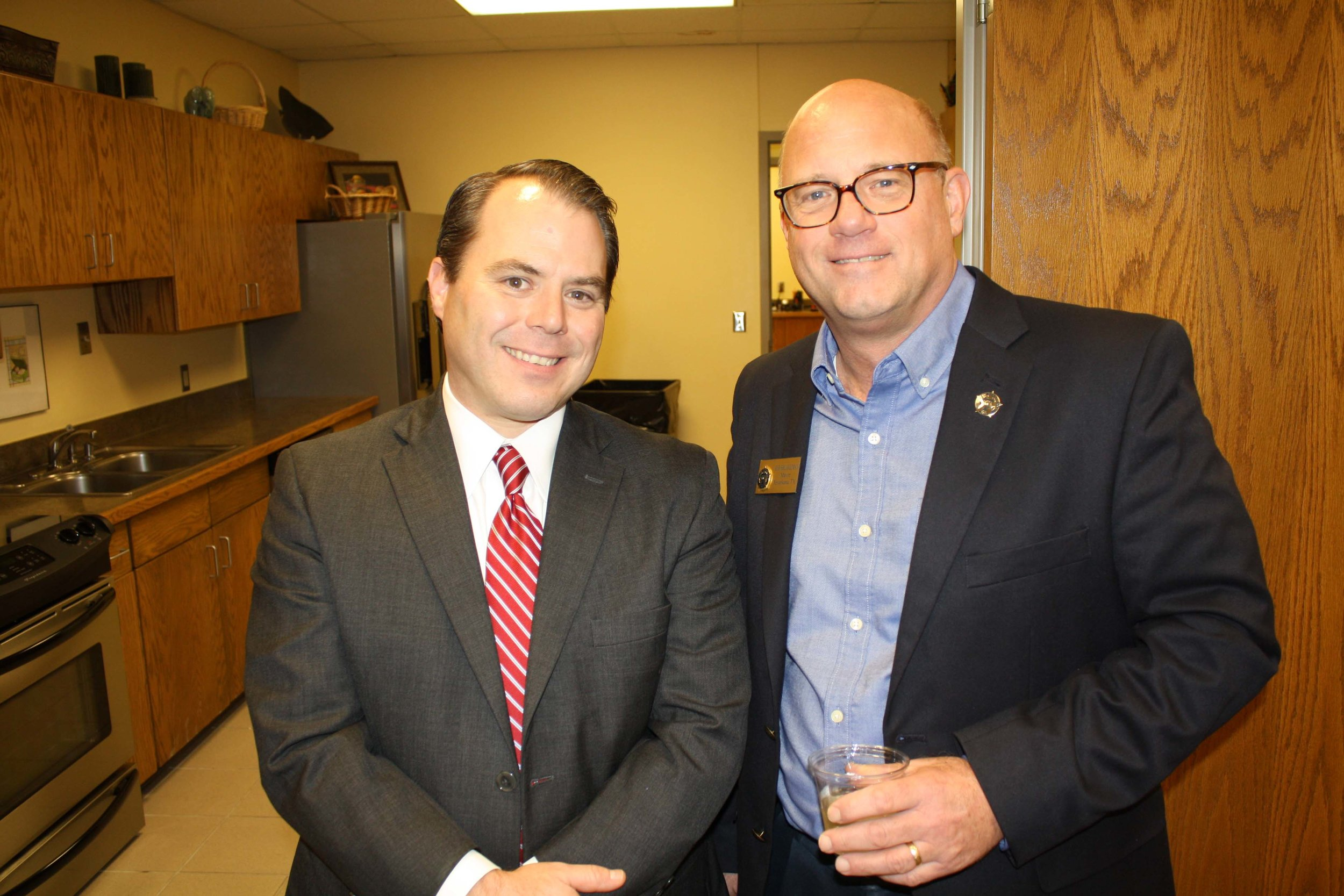 Fred Meisenheimer and Mayor Bob Bruggeman