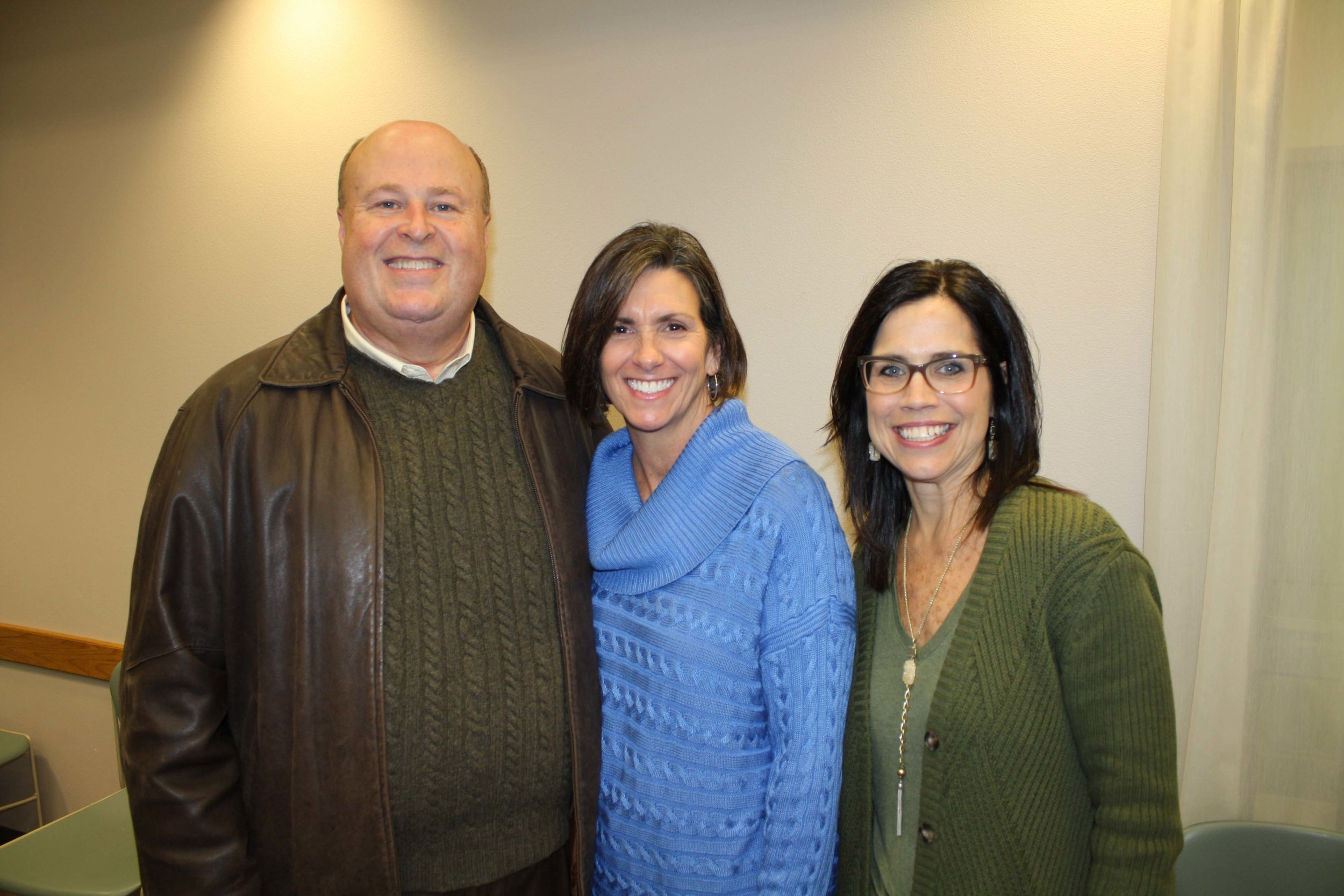 Jeff Harris, Kathleen Young and Amy Damrom