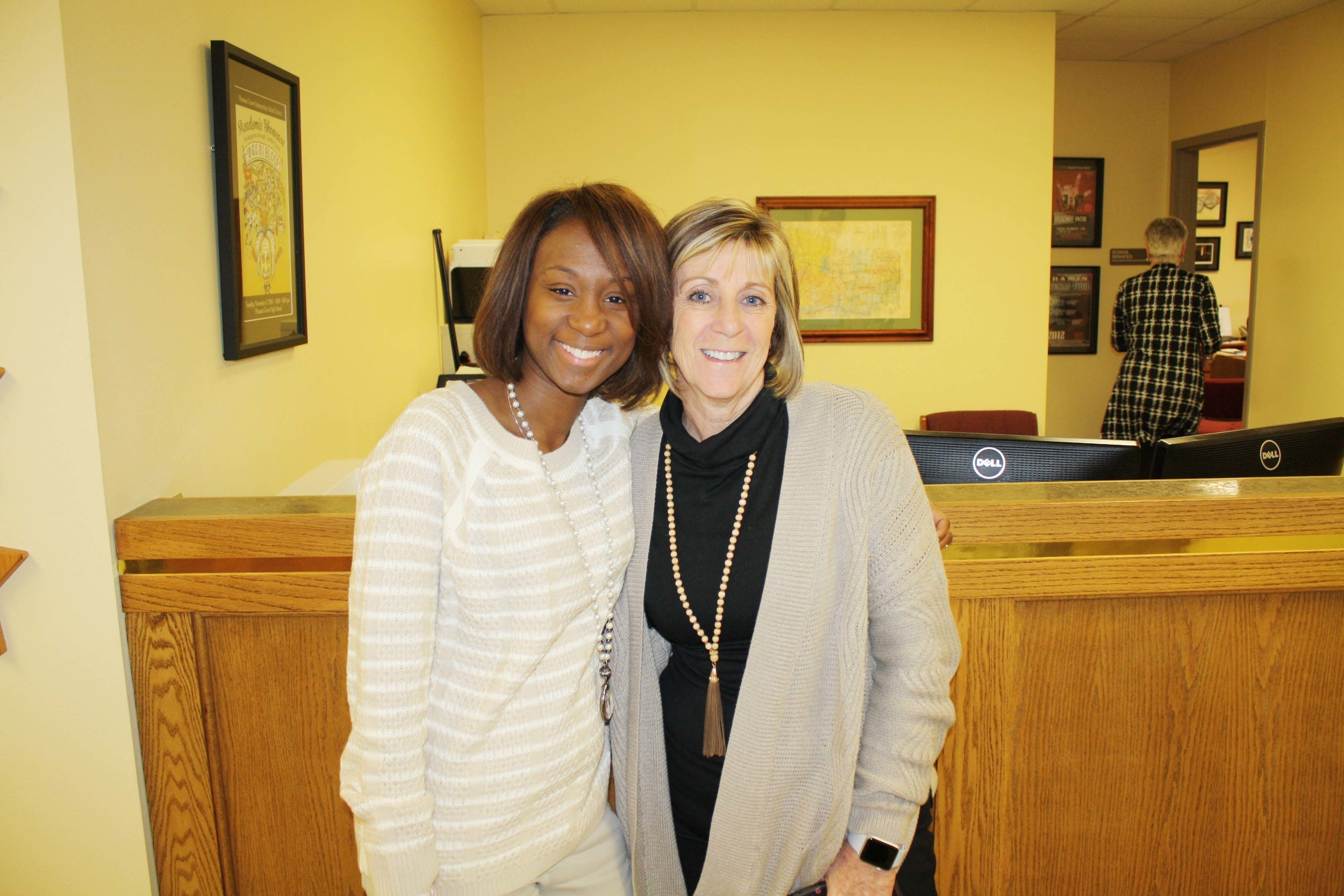Lamoya Burks and Pam Bradford