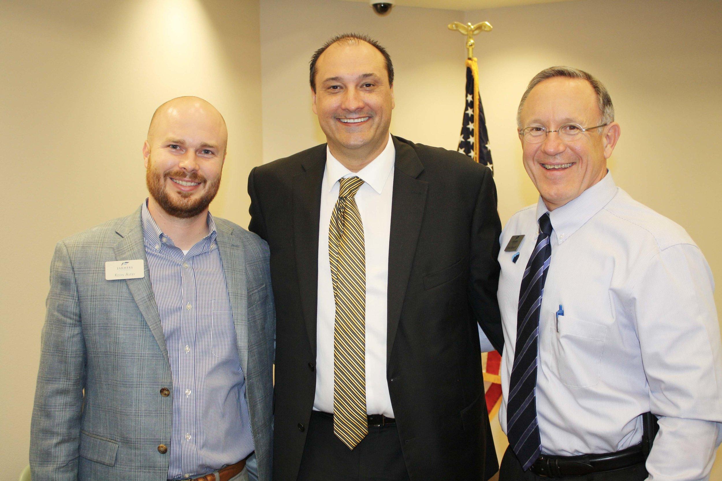 Kevin Avery, Dr. Jason Smith and James Bramlett